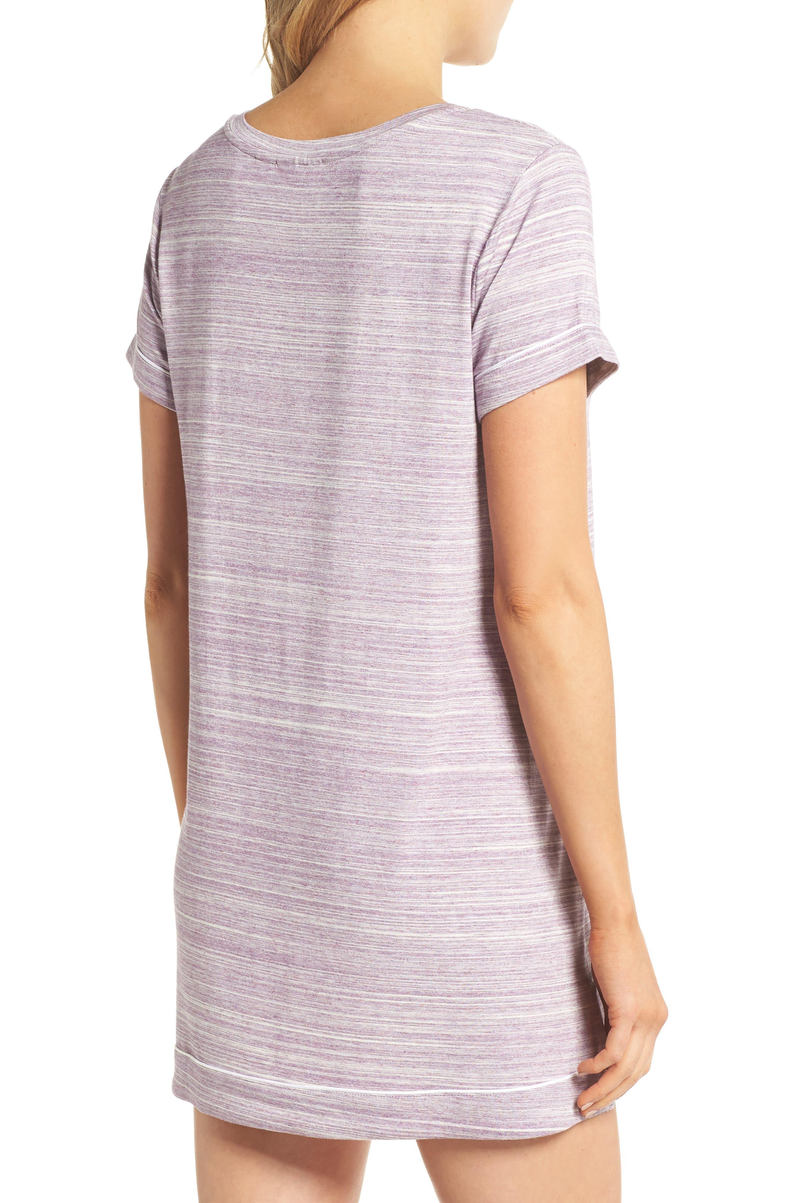 Moonlight Sleep Shirt,                             Alternate thumbnail 2, color,                             Purple Spacedye