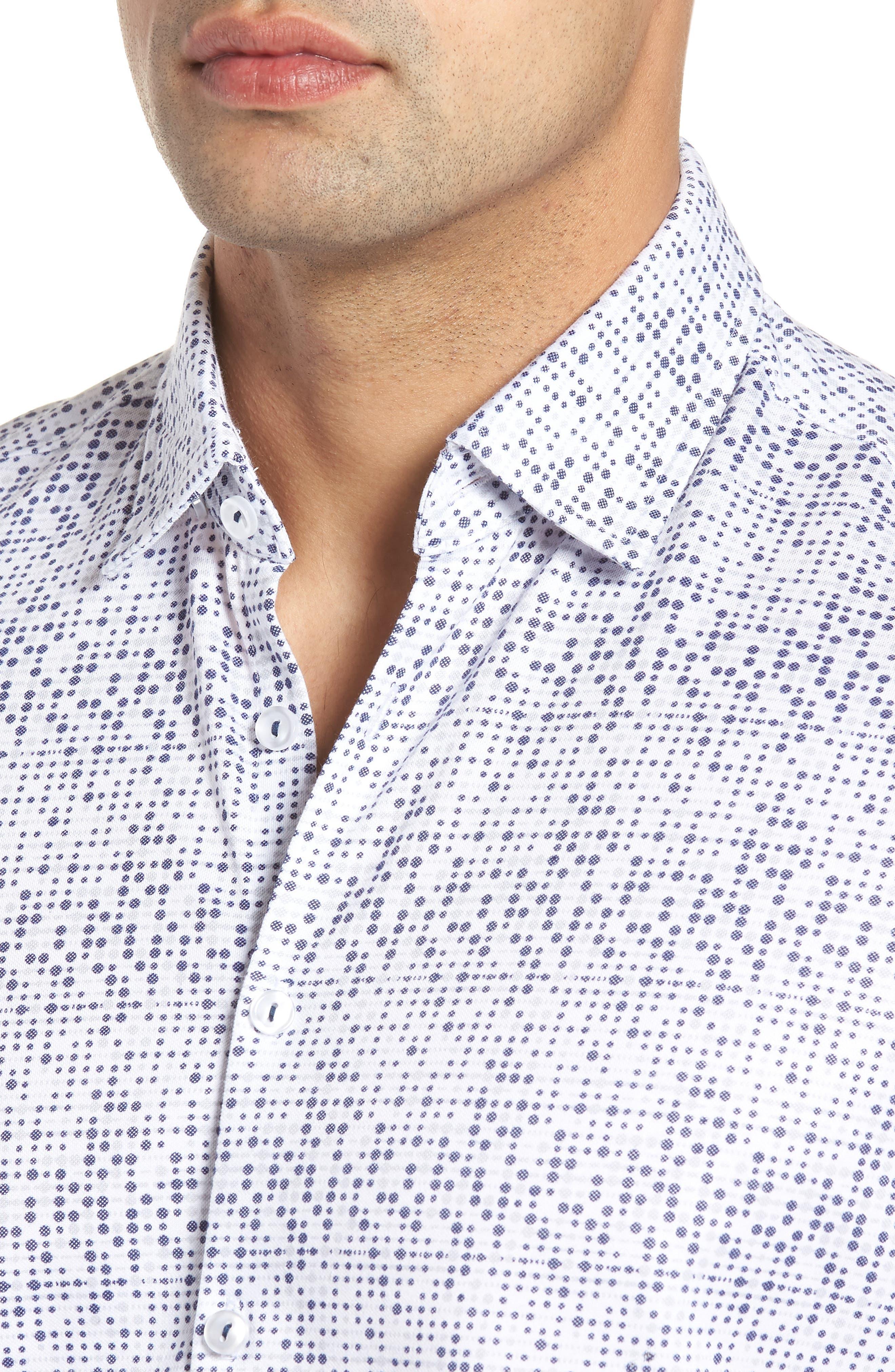 Knit Sport Shirt,                             Alternate thumbnail 4, color,                             White