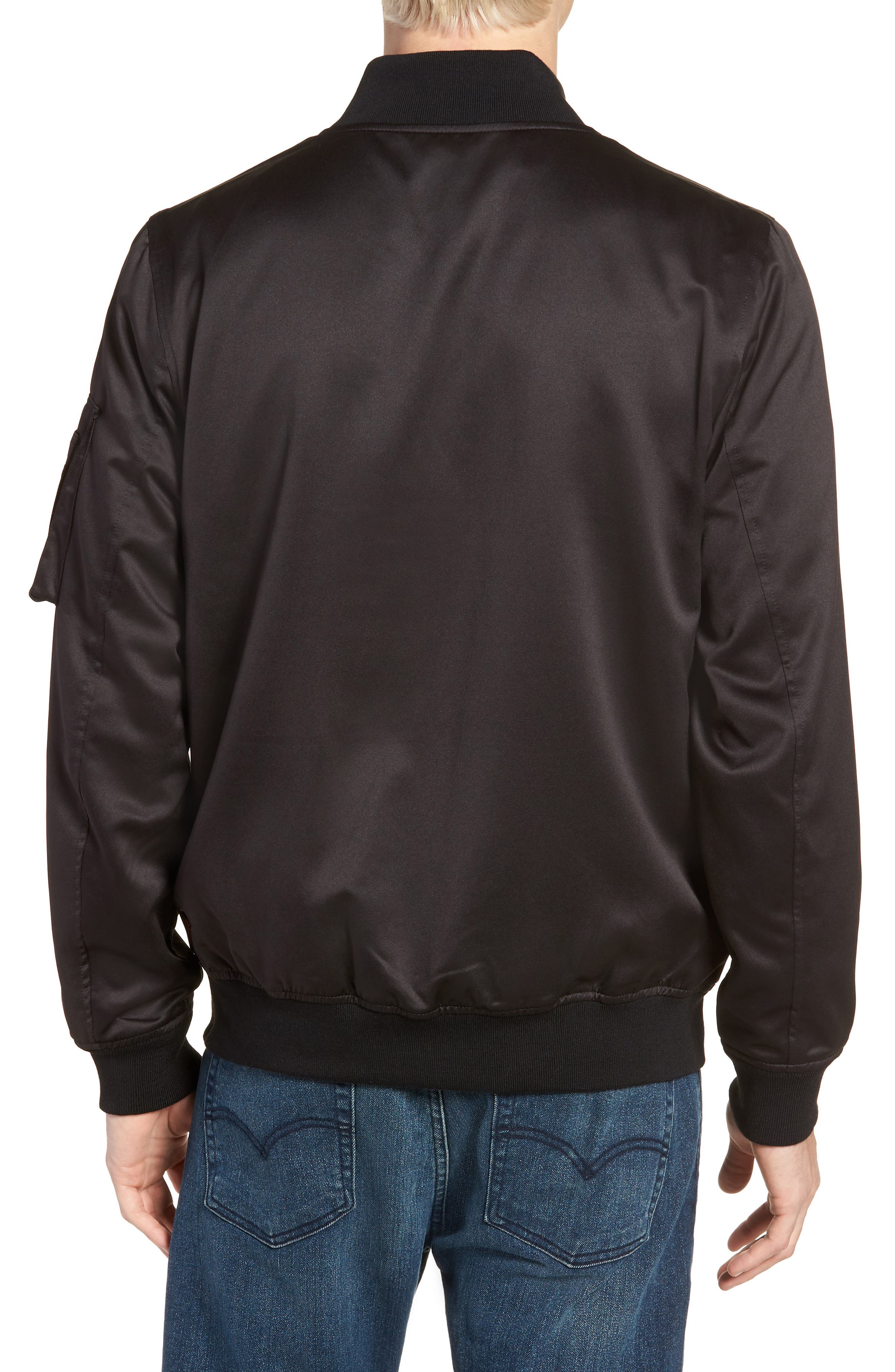 Reversible MA-1 Jacket,                             Alternate thumbnail 3, color,                             Black