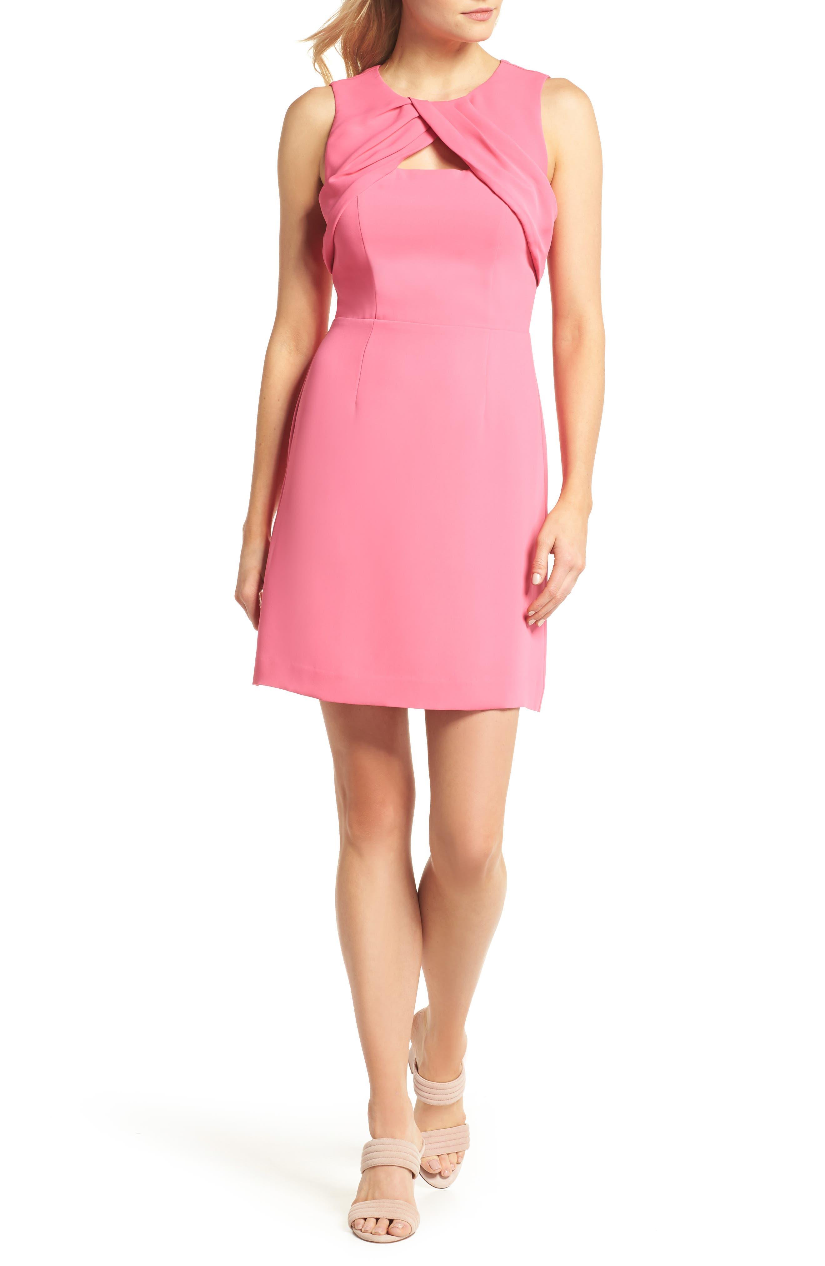 Nera Sheath Dress,                         Main,                         color, Peony