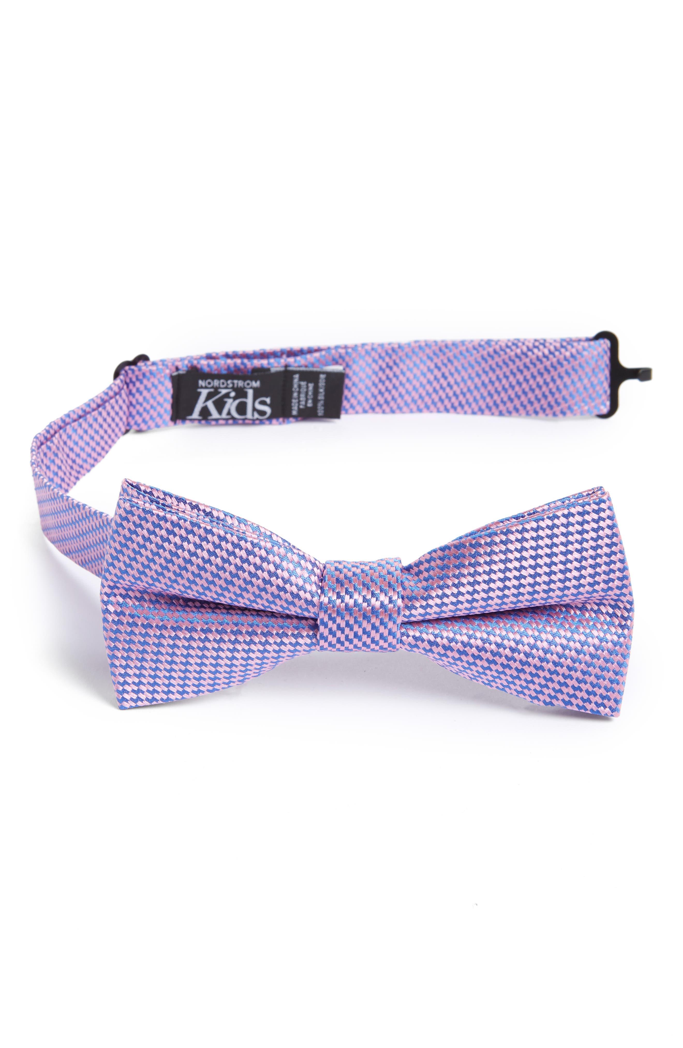 Digital Print Silk Bow Tie,                             Main thumbnail 1, color,                             Pink