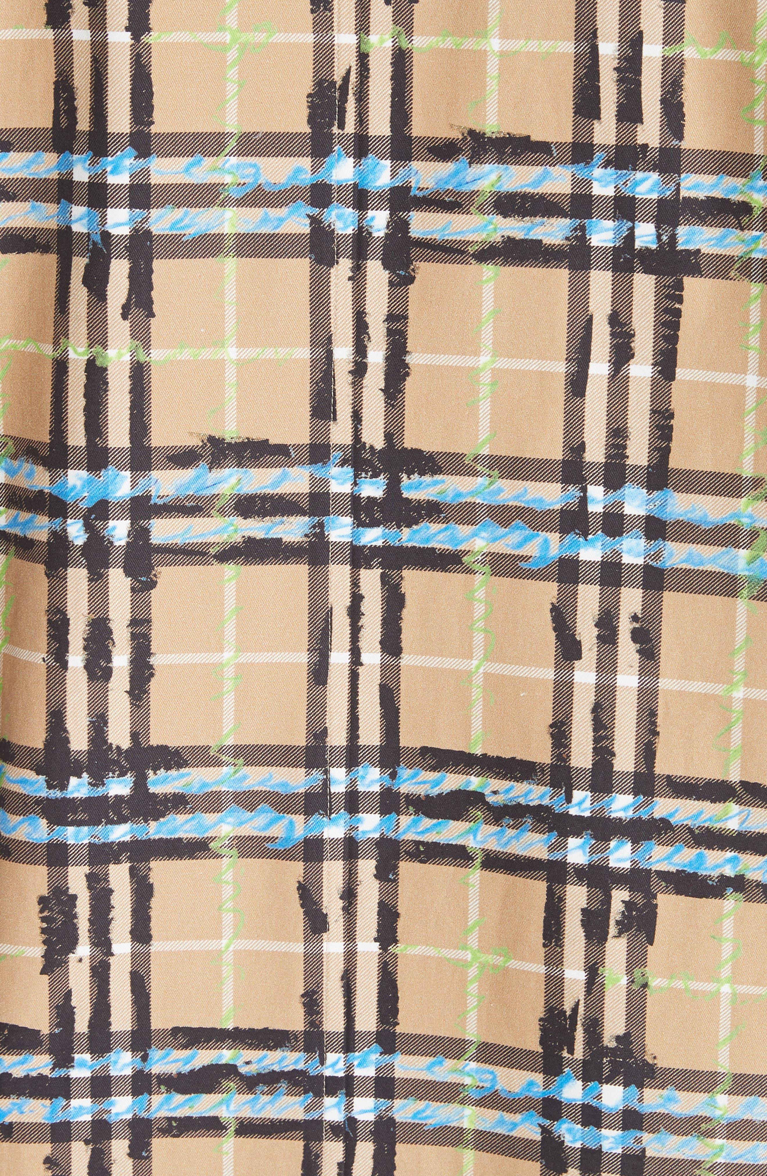 Calderbrook Scribble Check Car Coat,                             Alternate thumbnail 6, color,                             Bright Blue