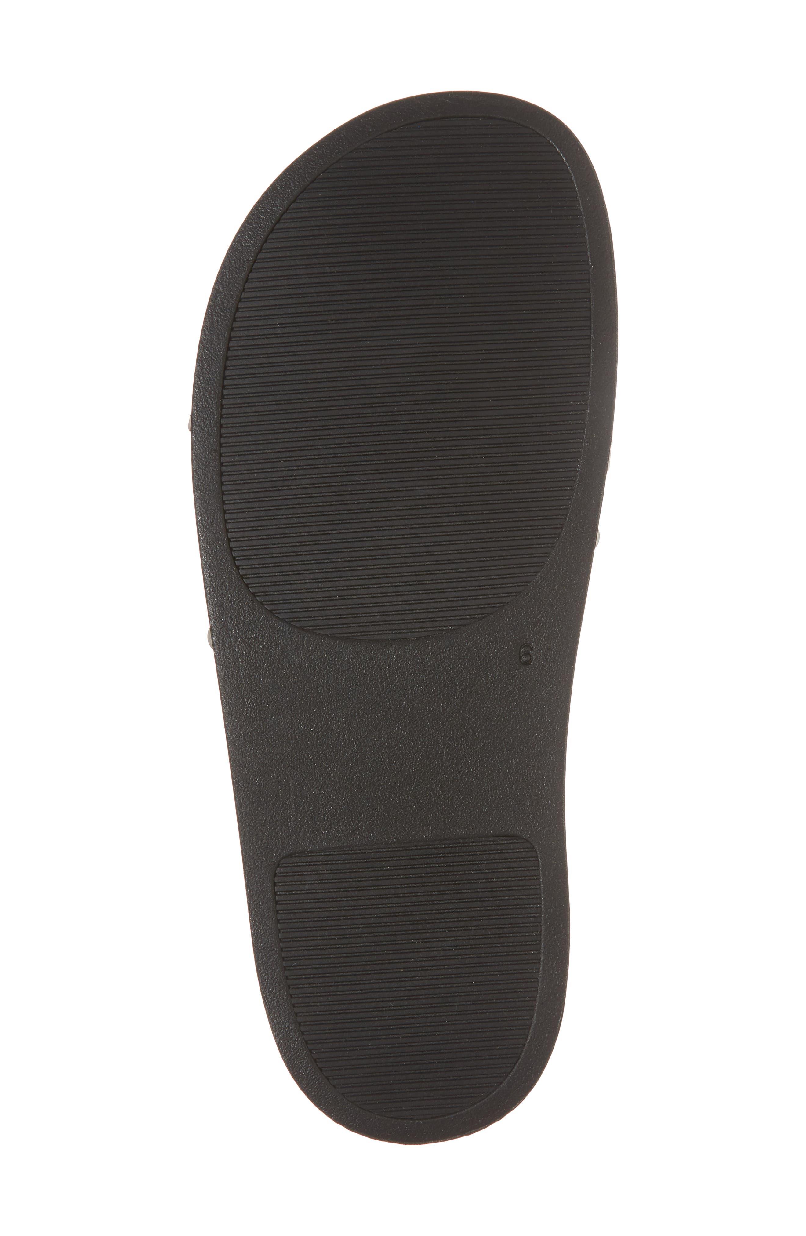 Thunder Slide Sandal,                             Alternate thumbnail 6, color,                             White Leather