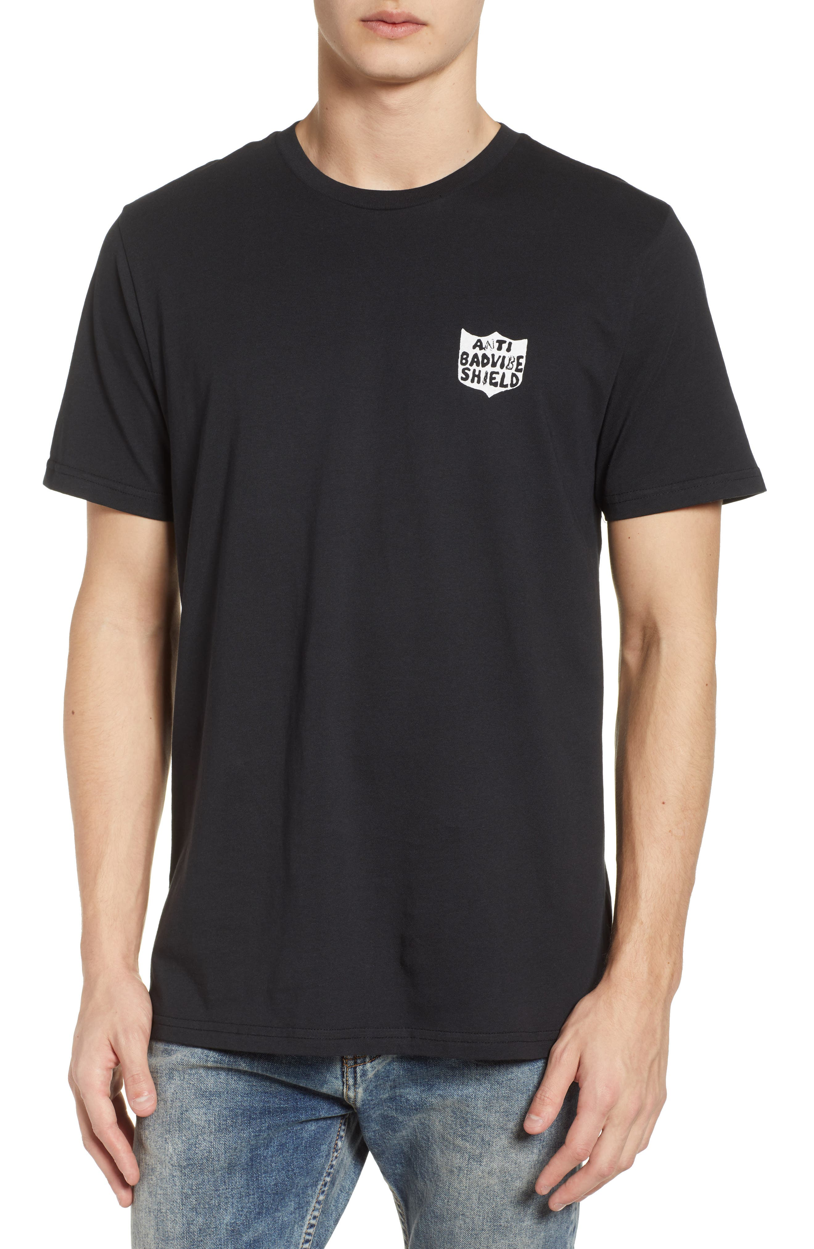 New Shield Graphic T-Shirt,                         Main,                         color, Black