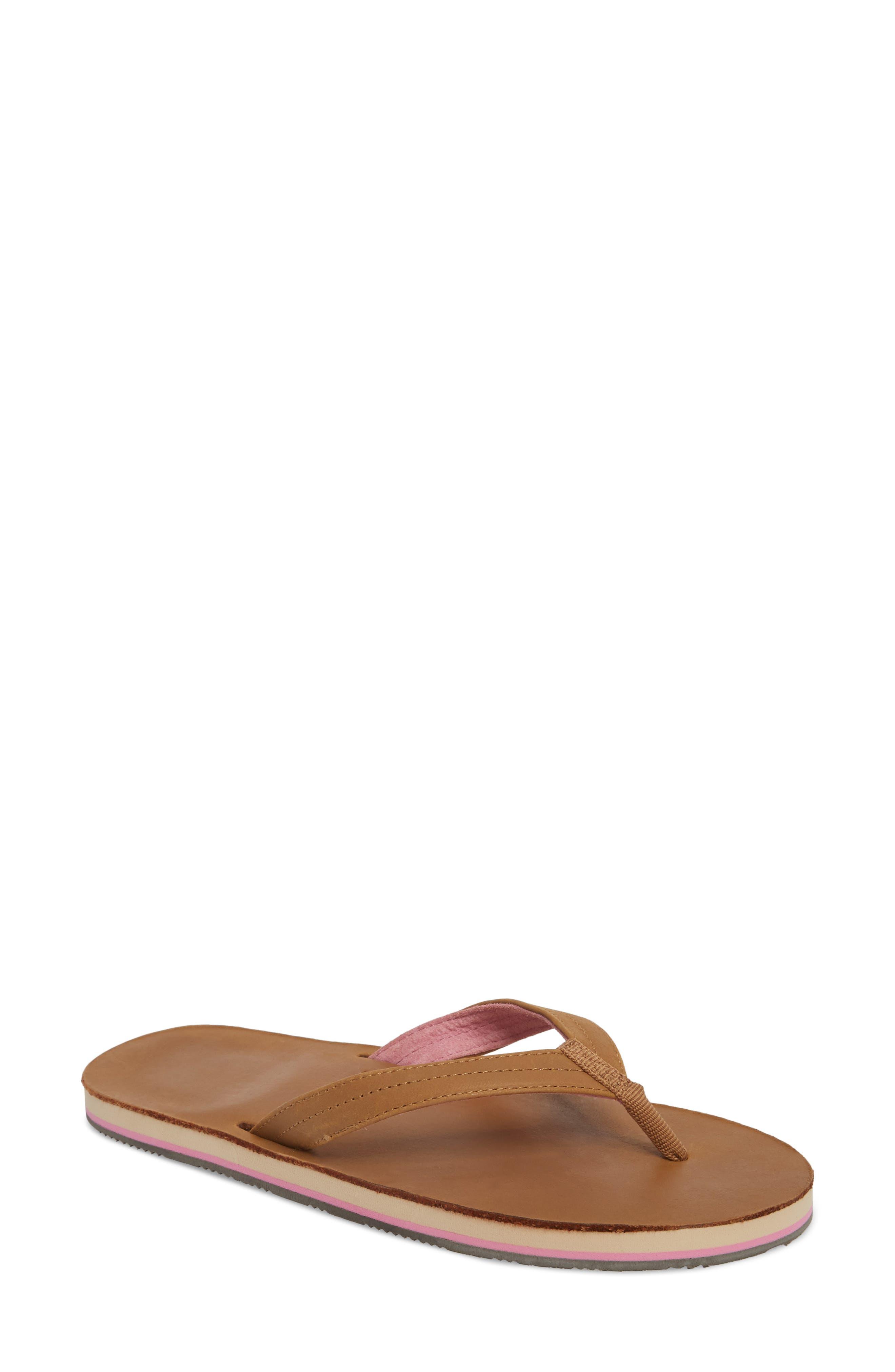 Lakes Flip Flop,                         Main,                         color, Tan Pink