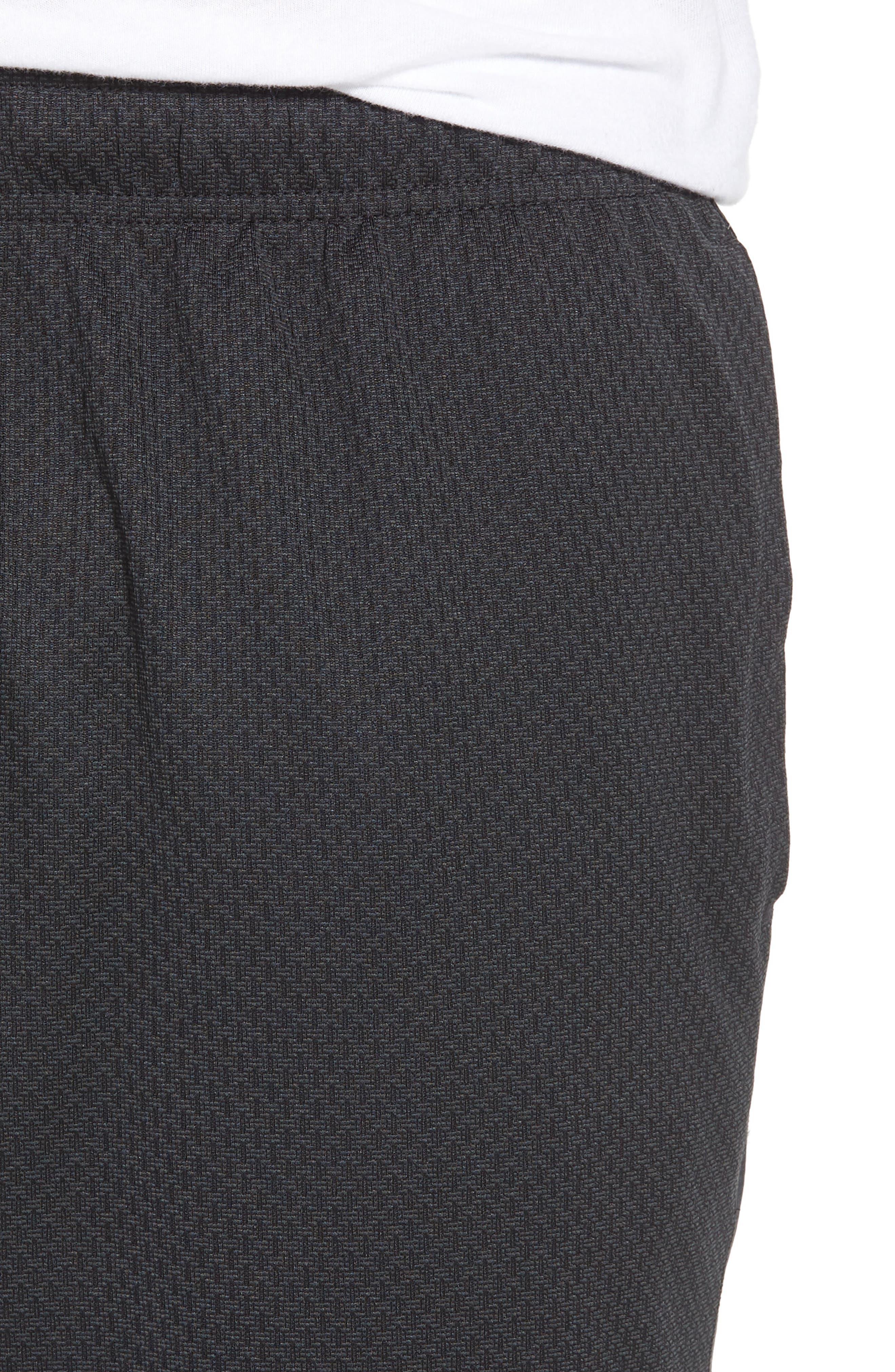 Tencity Knit Shorts,                             Alternate thumbnail 4, color,                             Black