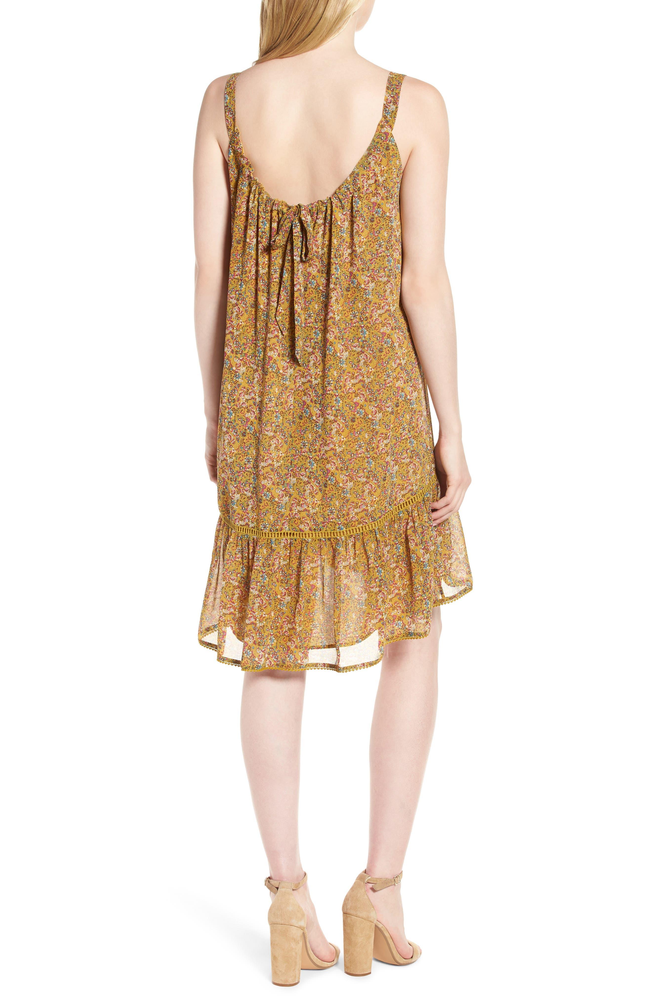 Madison Floral Sundress,                             Alternate thumbnail 2, color,                             Yellow Multi