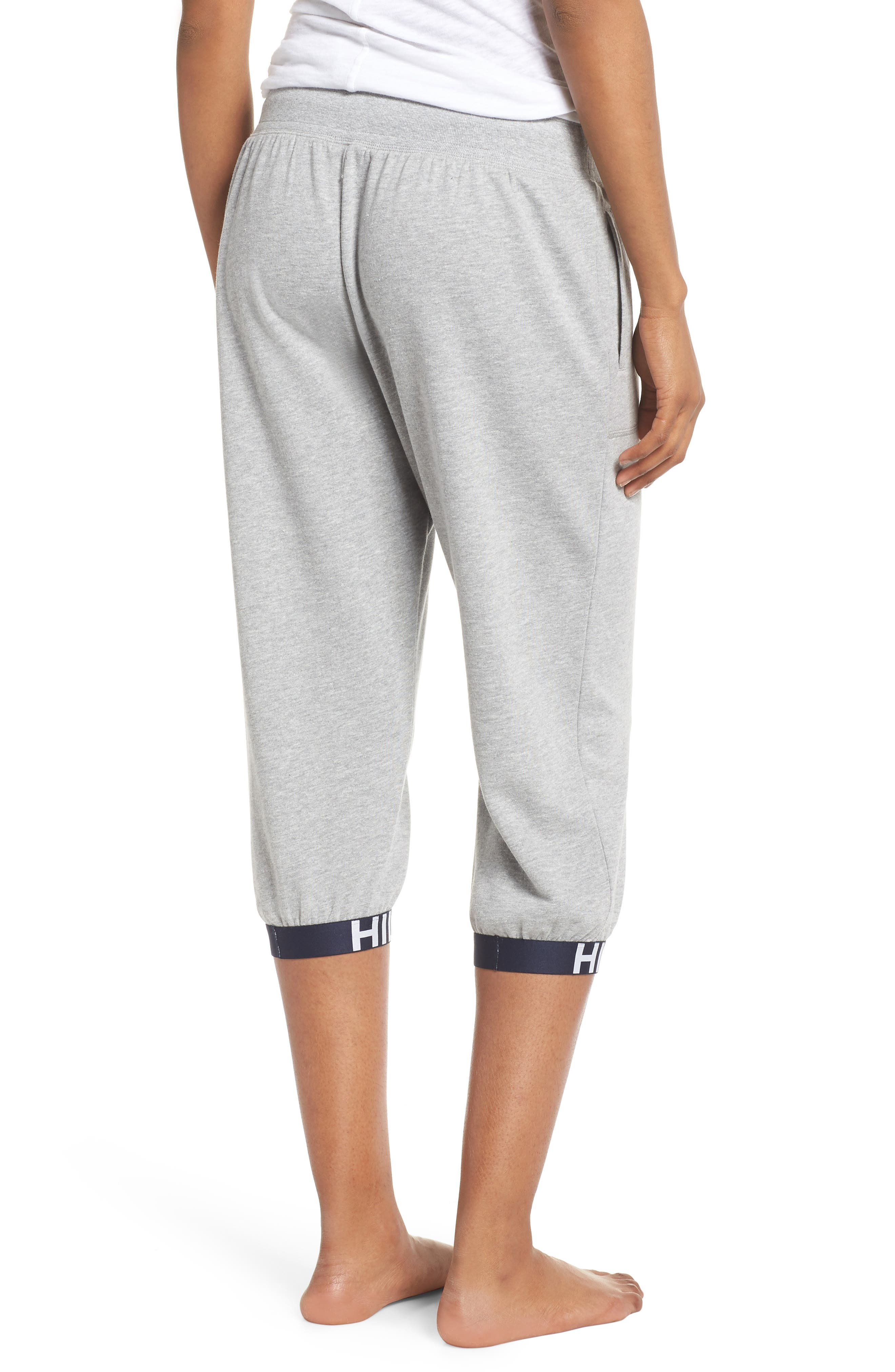 Crop Jogger Pants,                             Alternate thumbnail 2, color,                             Heather Gray