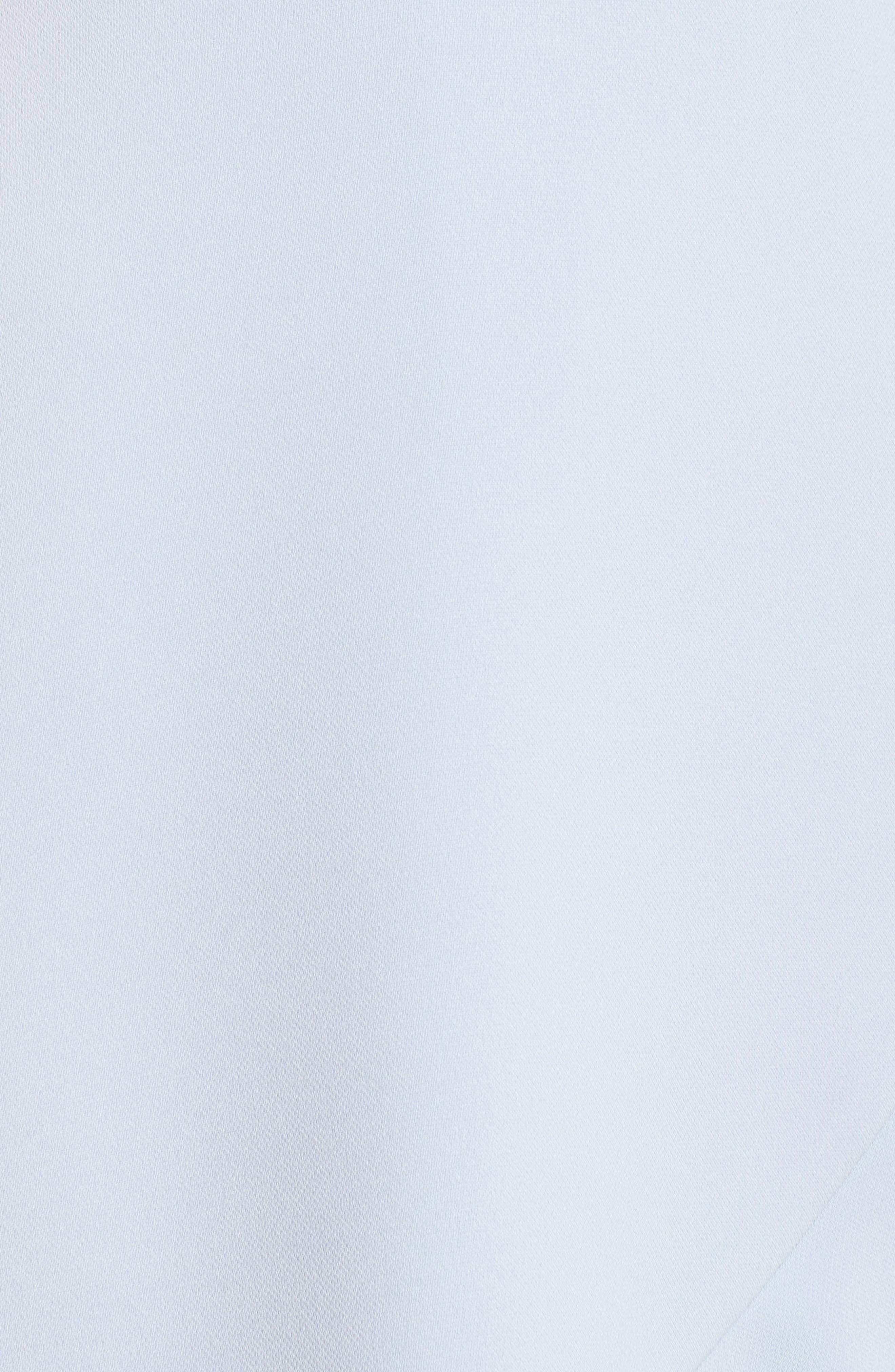 Cold Shoulder Ruffle Sheath Dress,                             Alternate thumbnail 6, color,                             Sky Blue