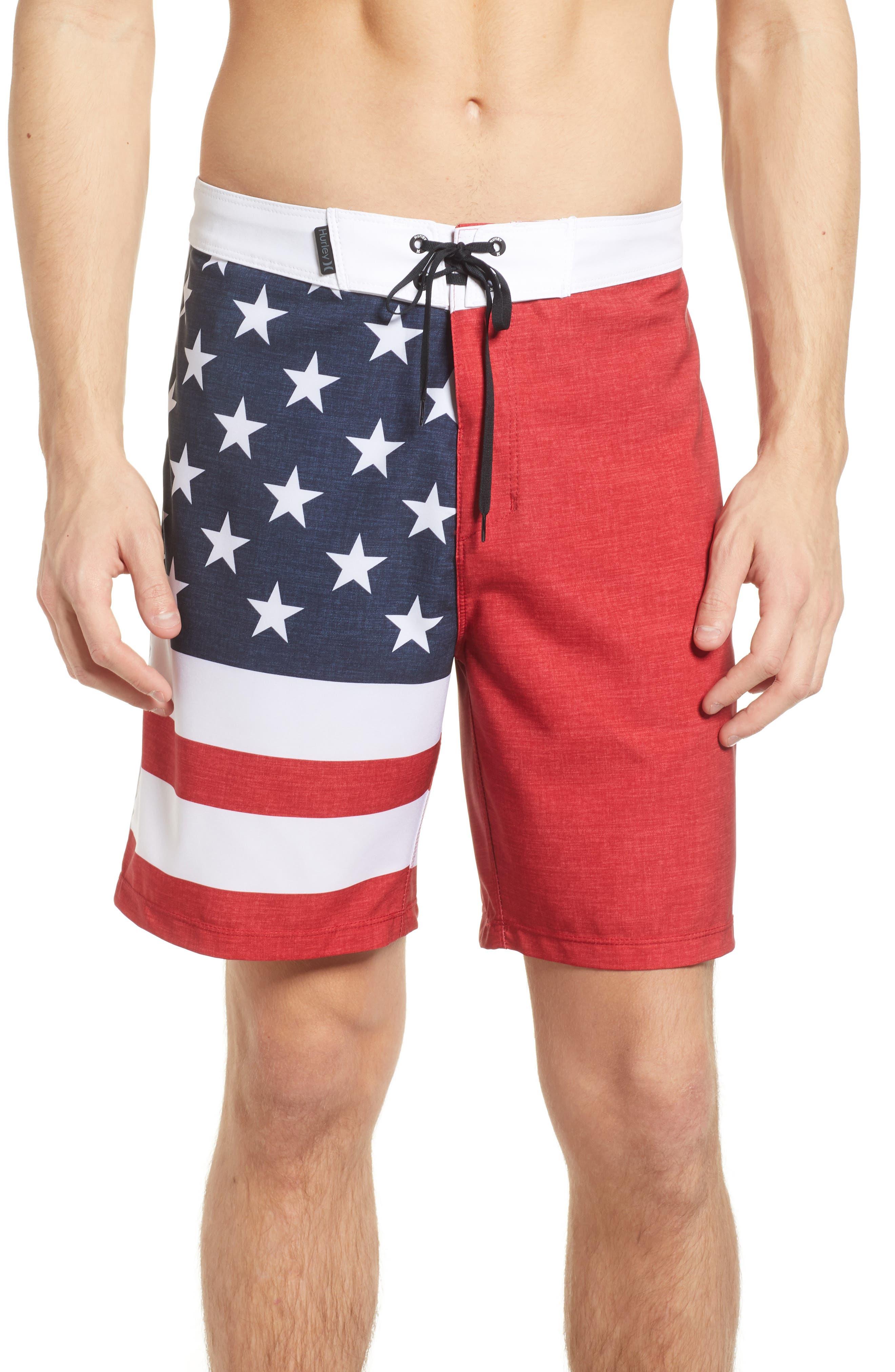 Phantom Cheers Board Shorts,                             Main thumbnail 1, color,                             Gym Red