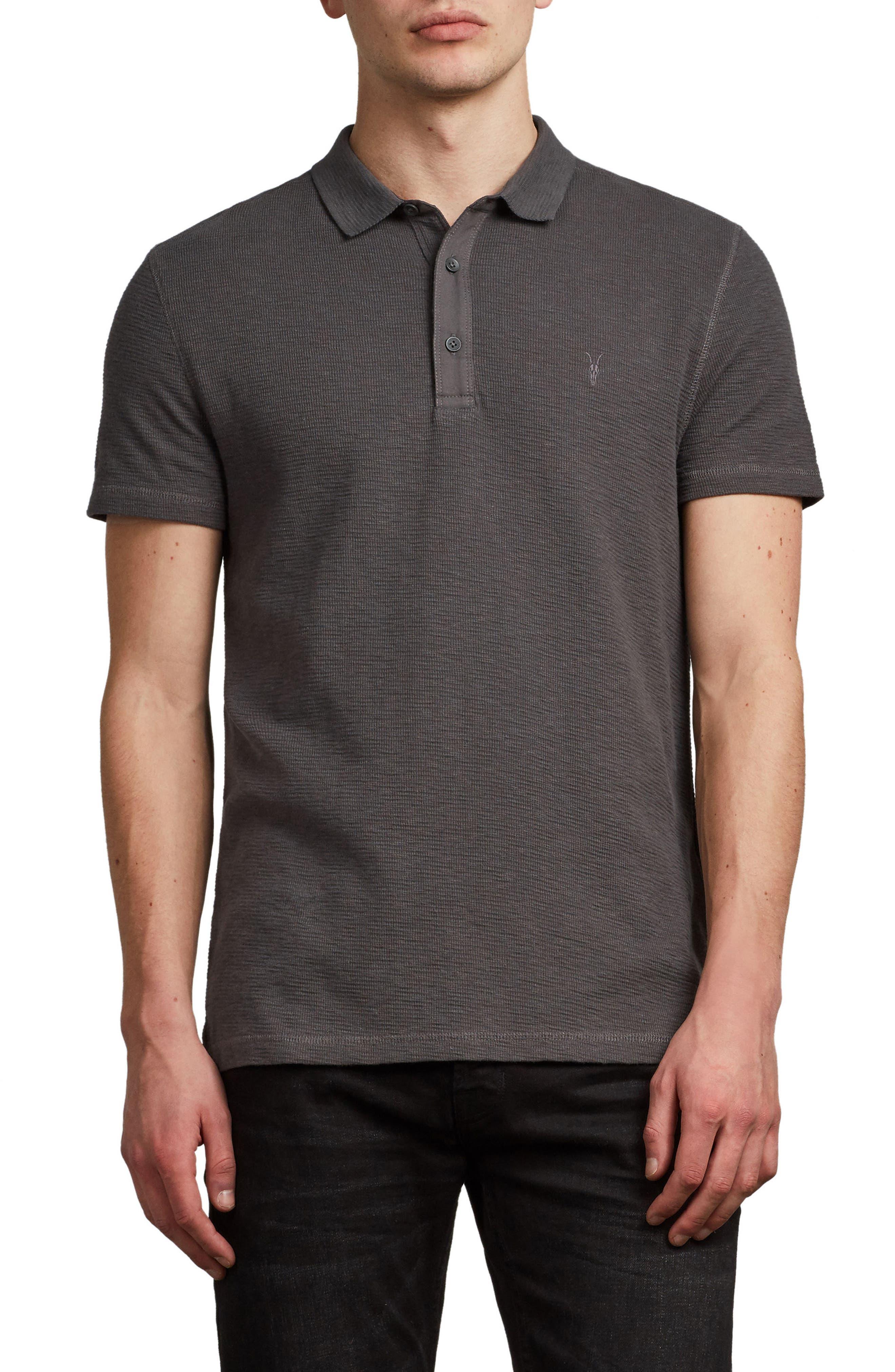 ALLSAINTS Clash Regular Fit Cotton Polo Shirt
