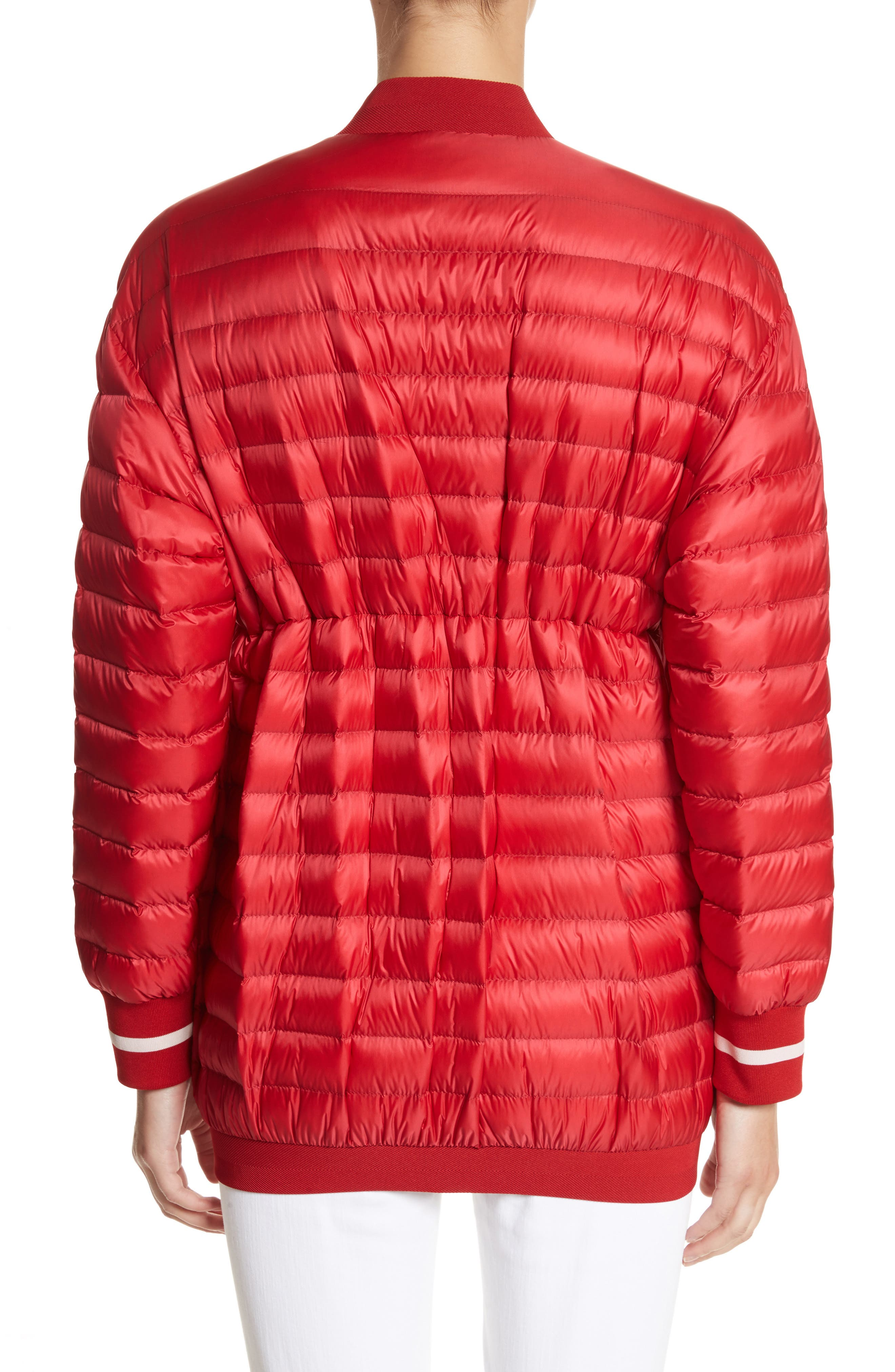Charoite Water Resistant Down Puffer Coat,                             Alternate thumbnail 3, color,                             Red