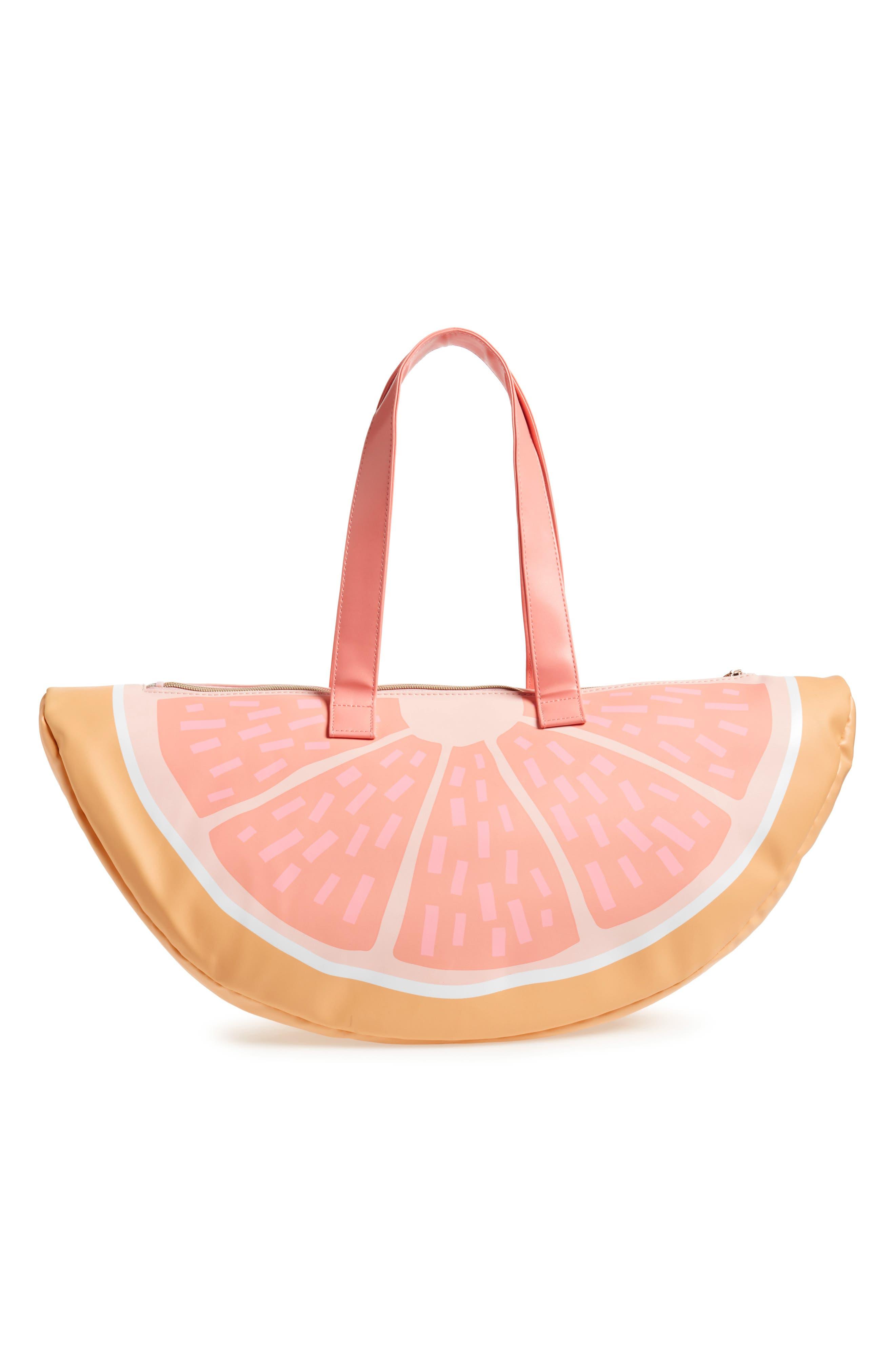 Grapefruit Cooler Bag,                             Alternate thumbnail 3, color,                             Coral