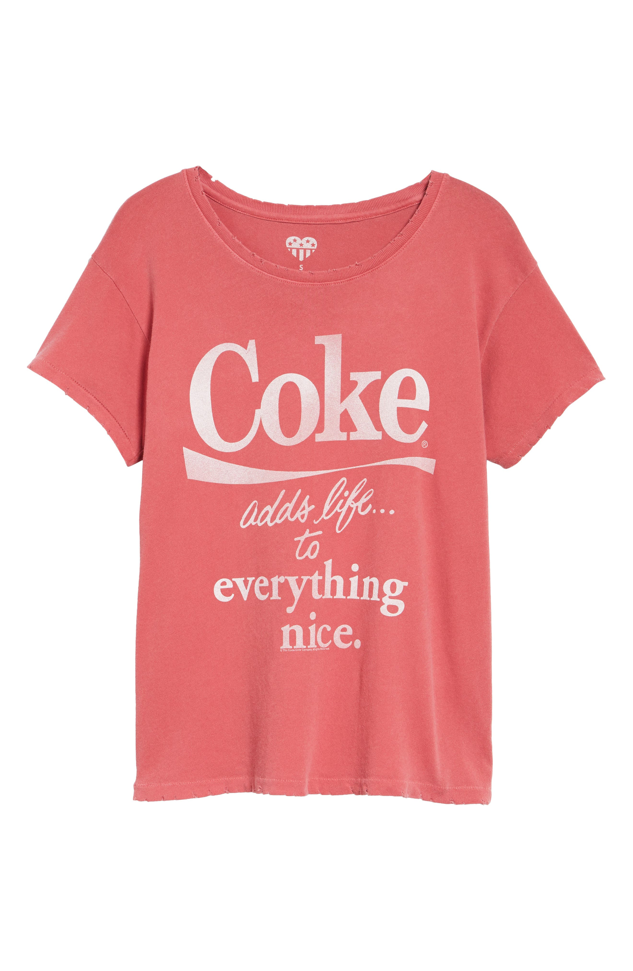 Coke Tee,                             Alternate thumbnail 7, color,                             Washed Red