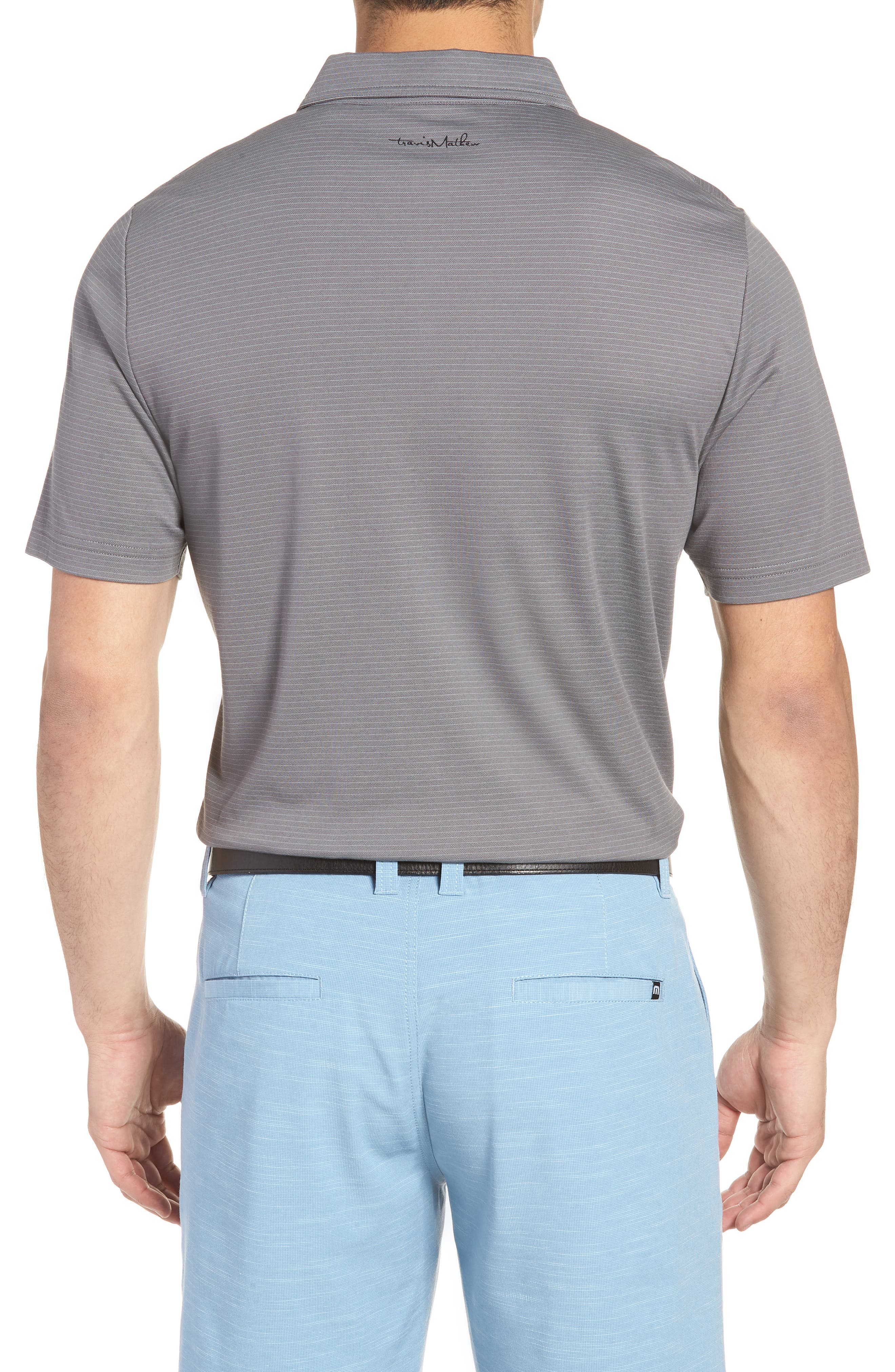 Watty Stripe Cotton Blend Polo,                             Alternate thumbnail 2, color,                             Quiet Shade