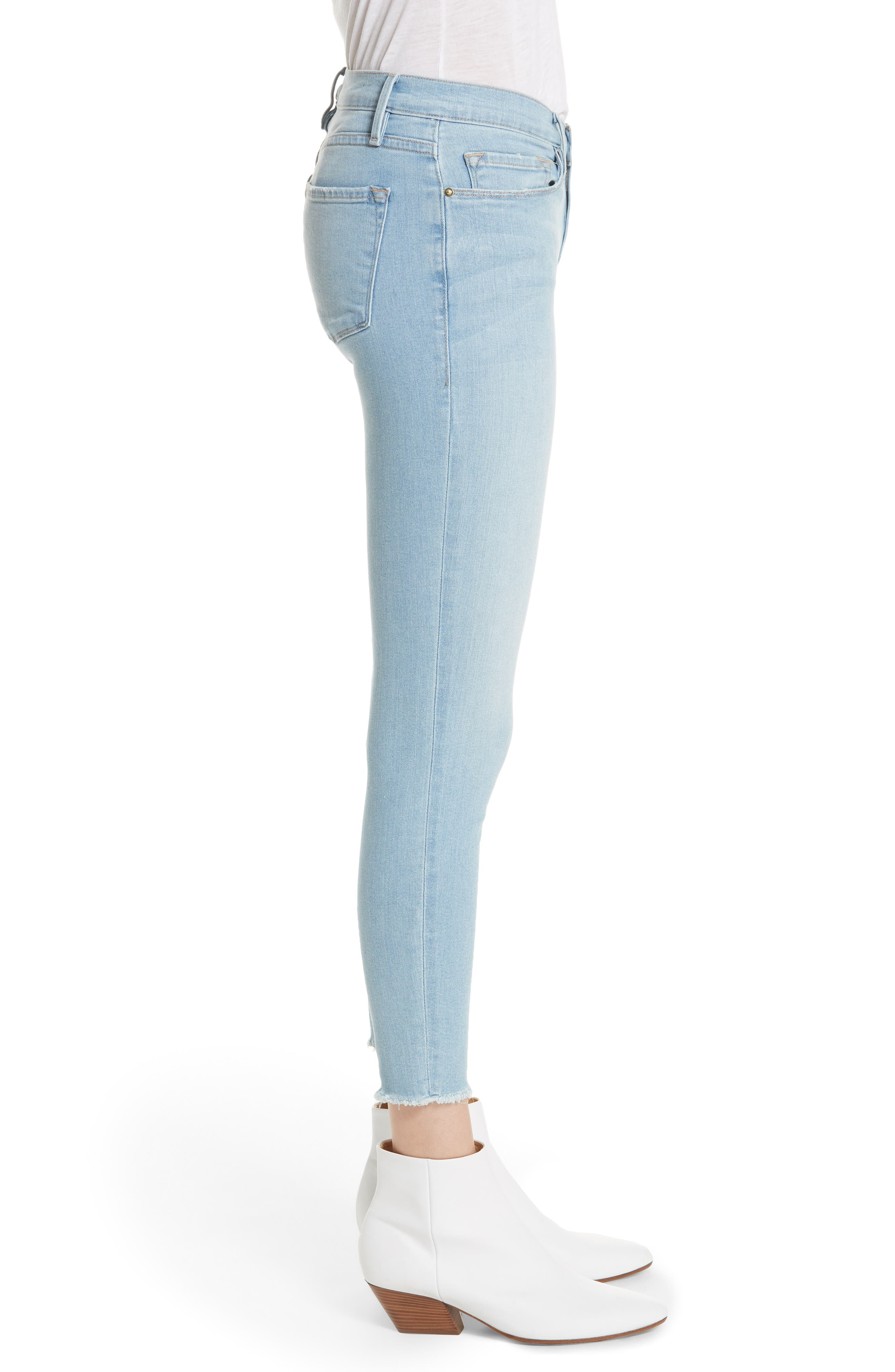 Alternate Image 3  - FRAME Le Skinny de Jeanne Raw Hem Crop Skinny Jeans (Jerome)