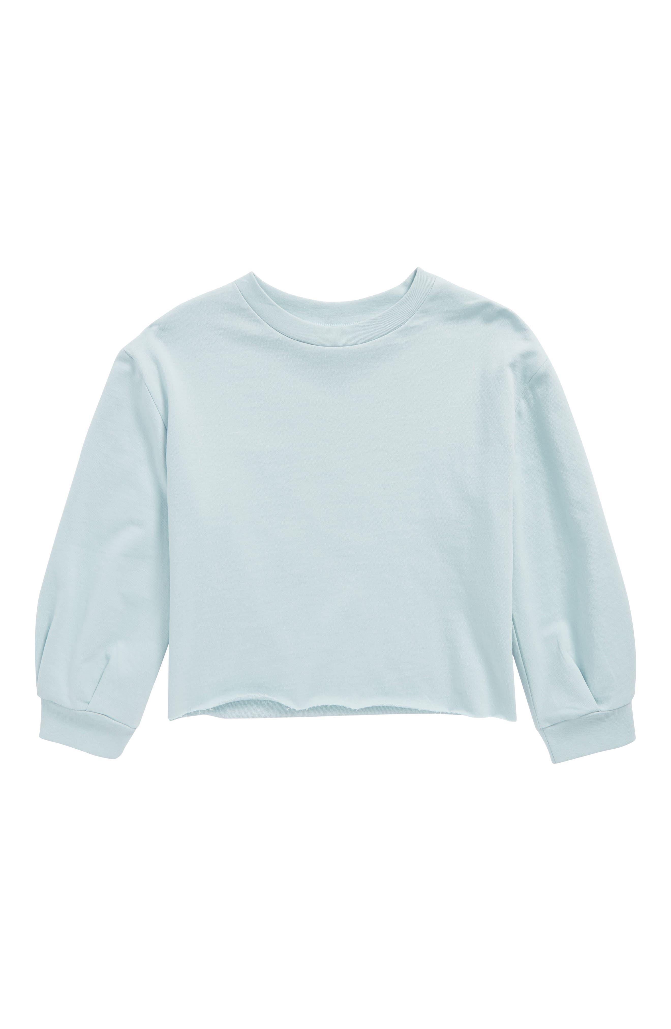 Raw Edge Sweatshirt,                             Main thumbnail 1, color,                             Blue Sterling