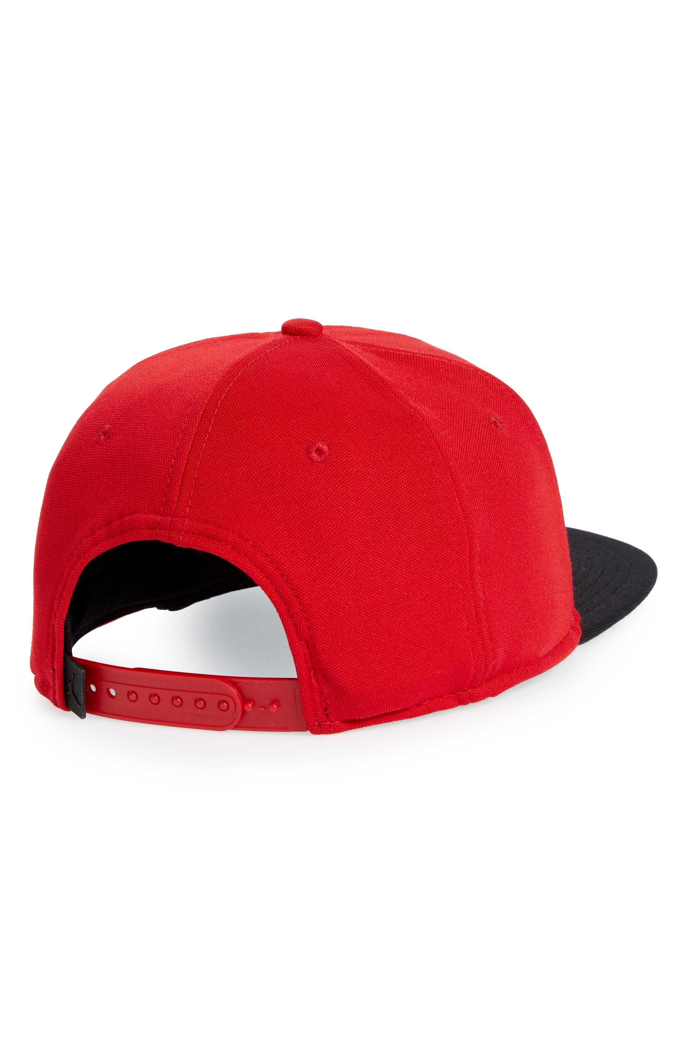 Jumpman Logo Baseball Cap,                             Alternate thumbnail 2, color,                             Gym Red/ Black