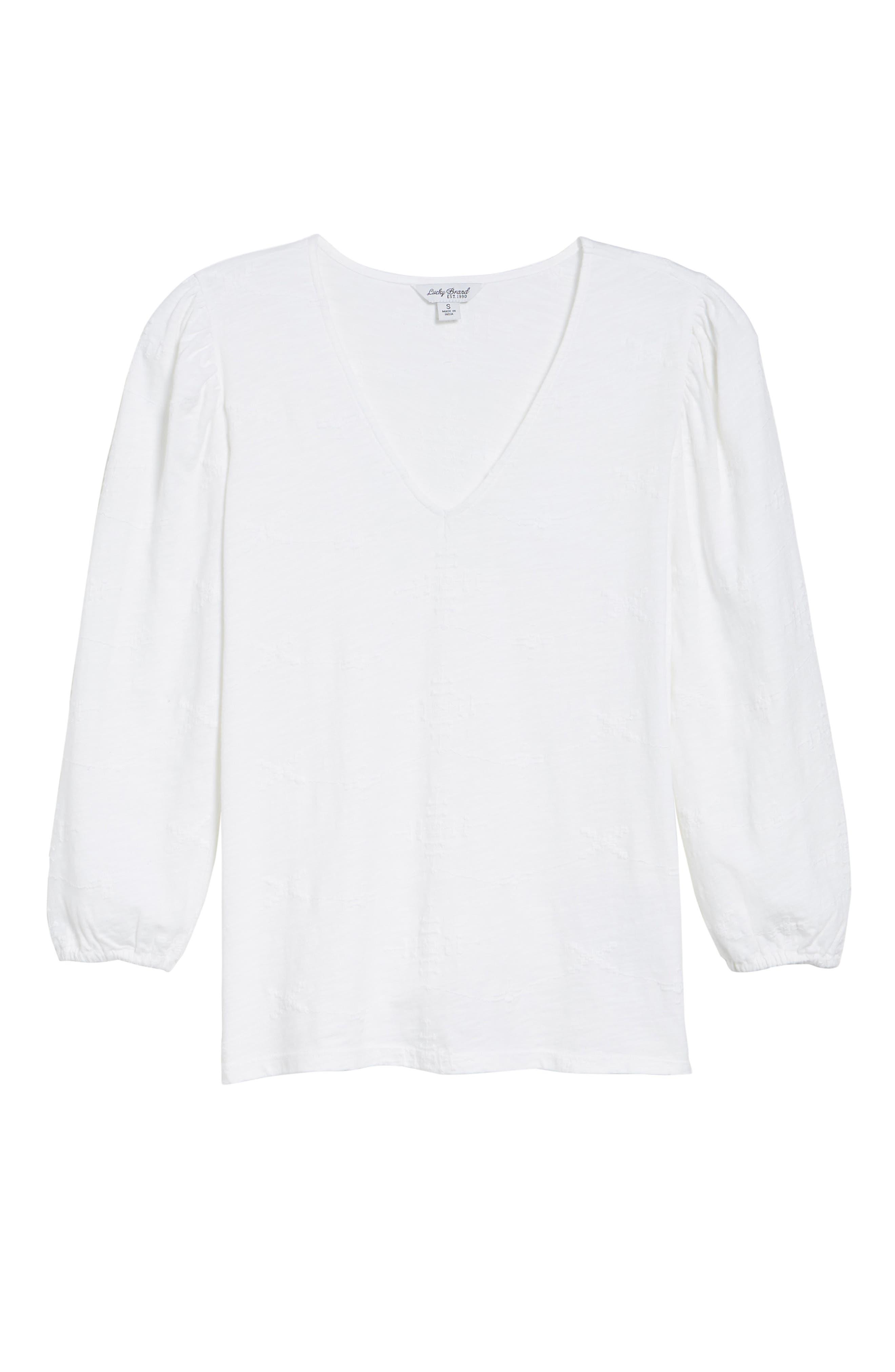 Eyelet Knit Top,                             Alternate thumbnail 7, color,                             Lucky White