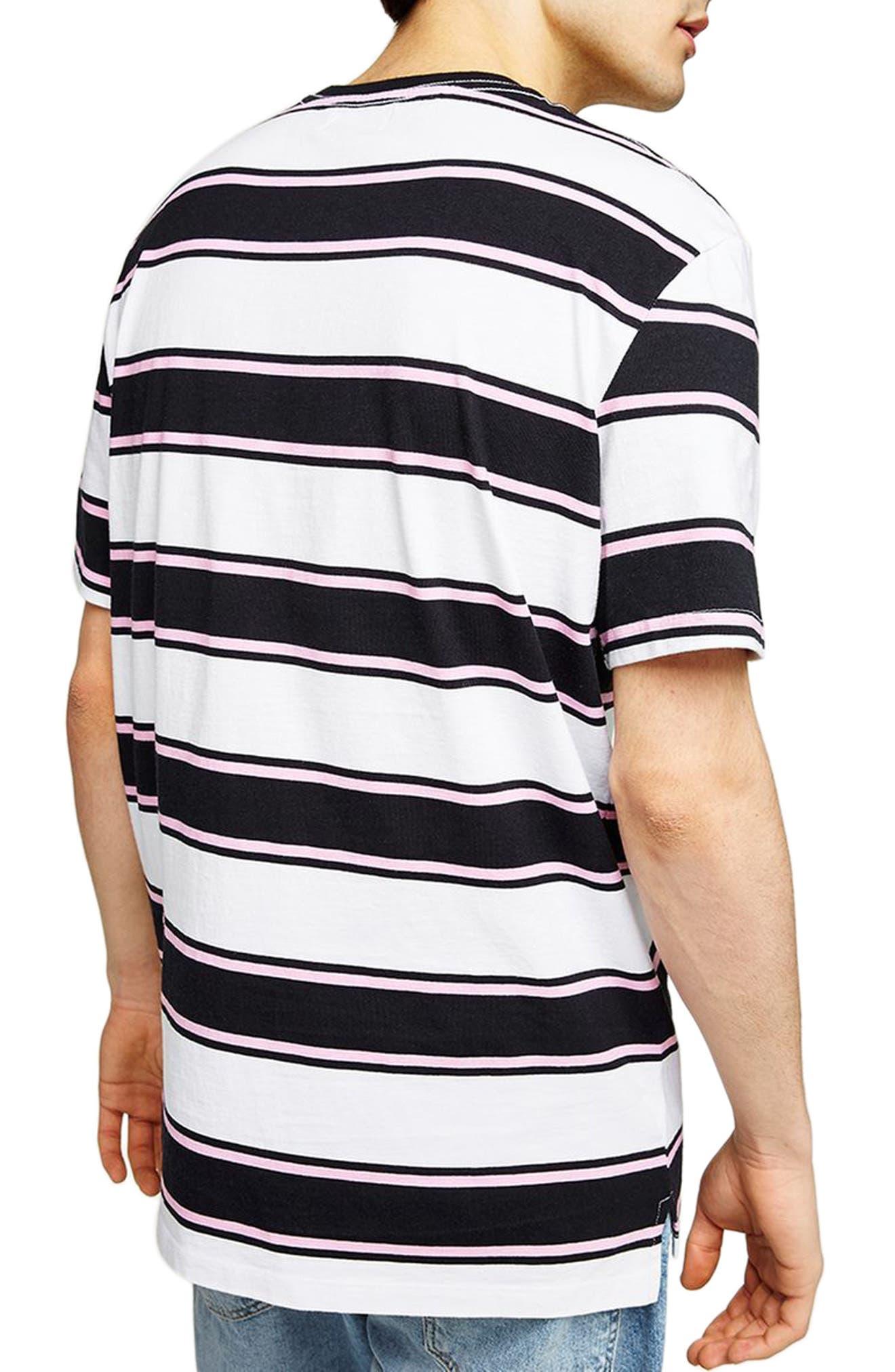 Stripe Crewneck T-Shirt,                             Alternate thumbnail 2, color,                             White Multi