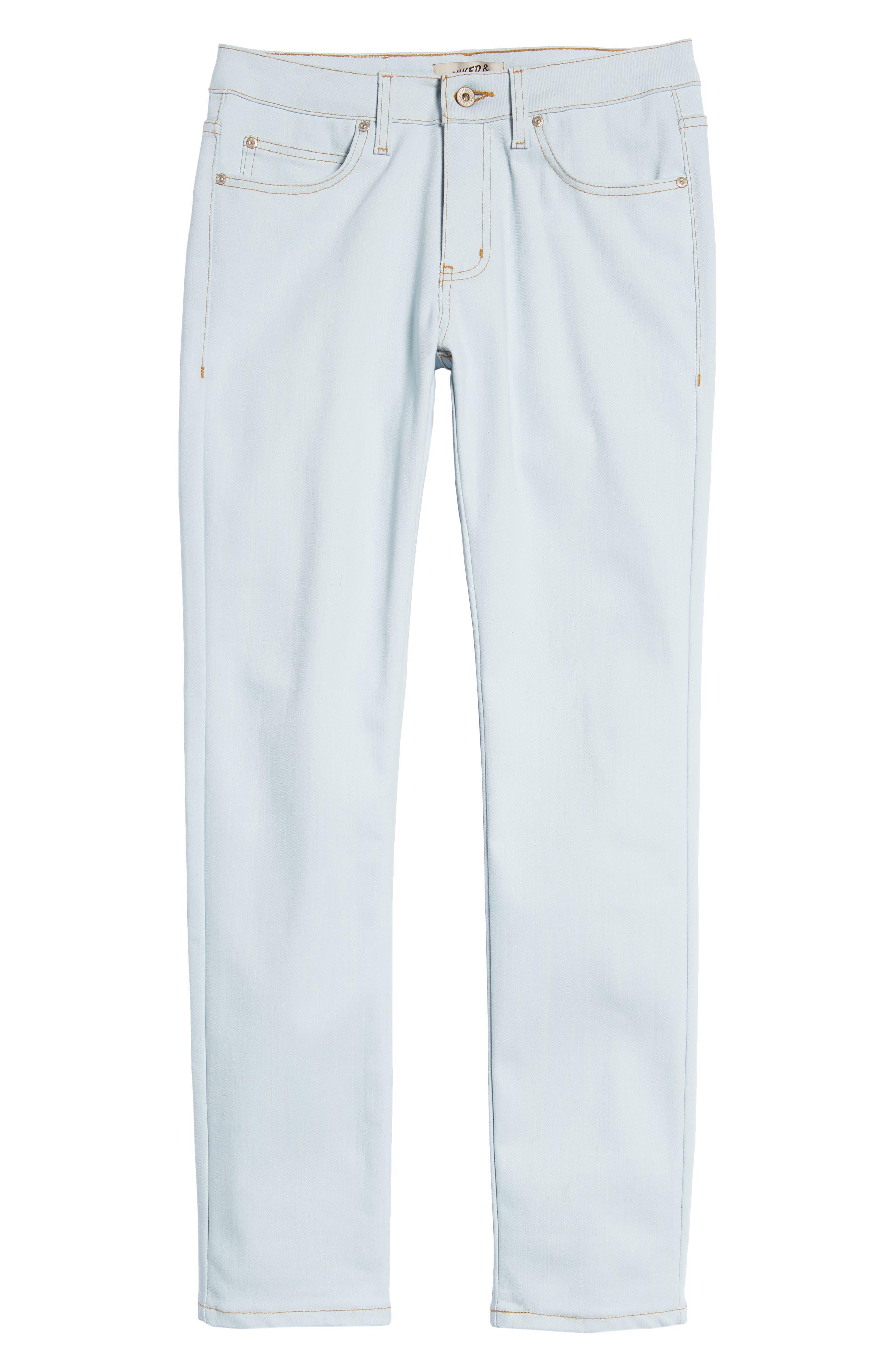 Naked & Famous Super Skinny Guy Skinny Fit Jeans,                             Alternate thumbnail 6, color,                             Powder Blue