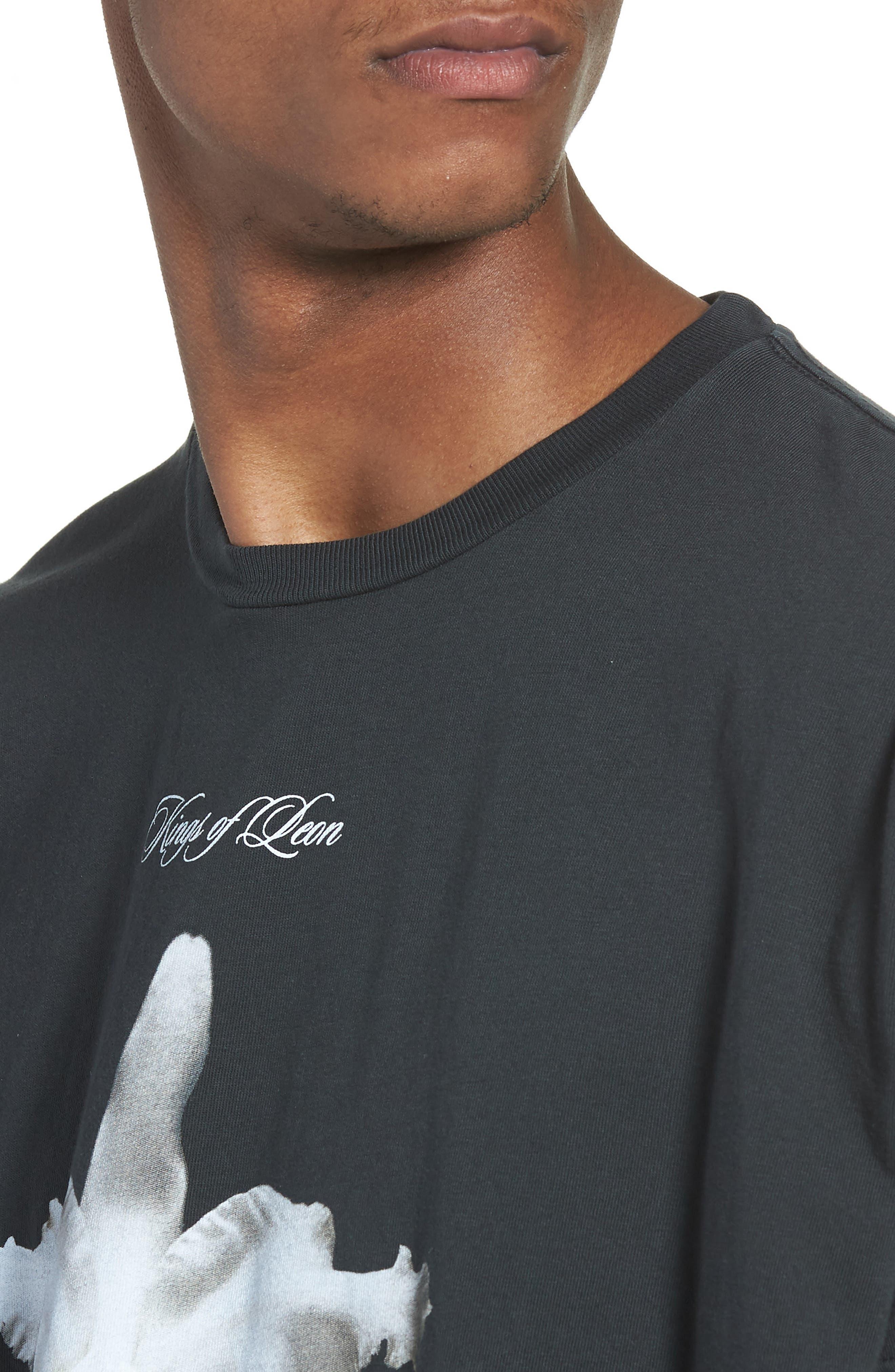 Kings of Leon Aha Shake Heartbreak T-Shirt,                             Alternate thumbnail 4, color,                             Dusty Black