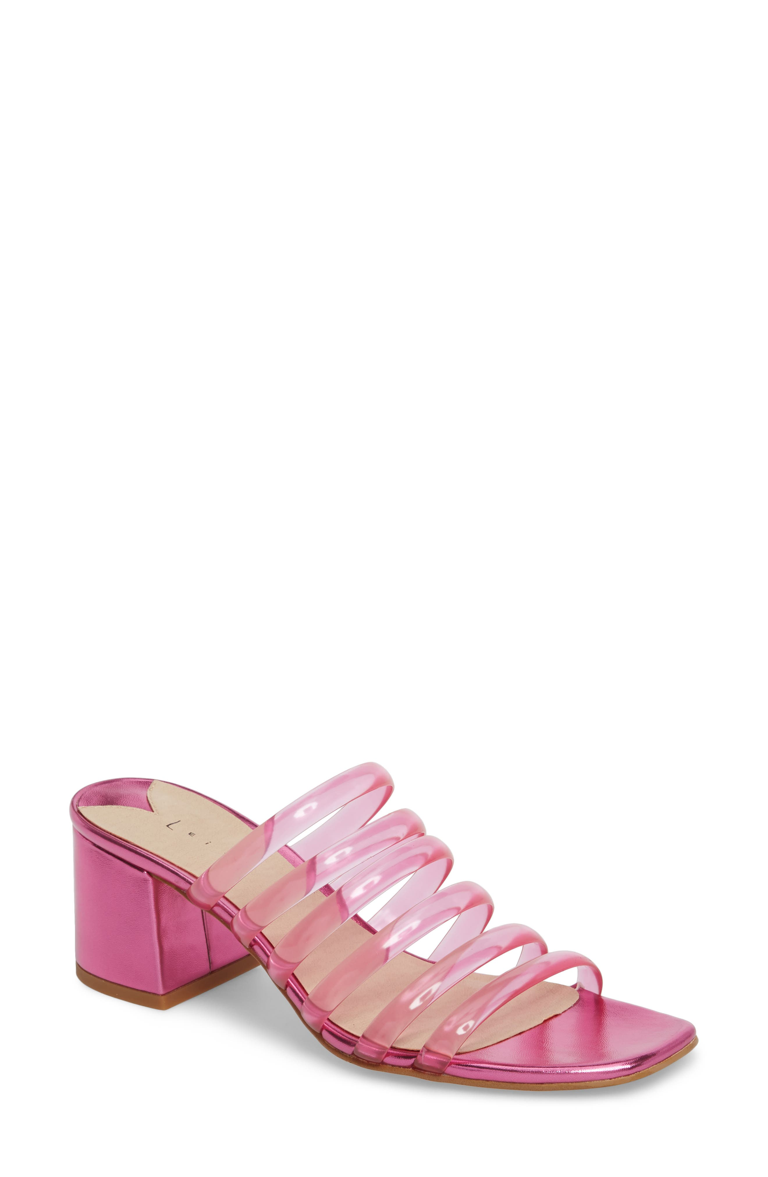 Leith Cloud Jelly Slide Sandal (Women). PINK; CLEAR; LILAC