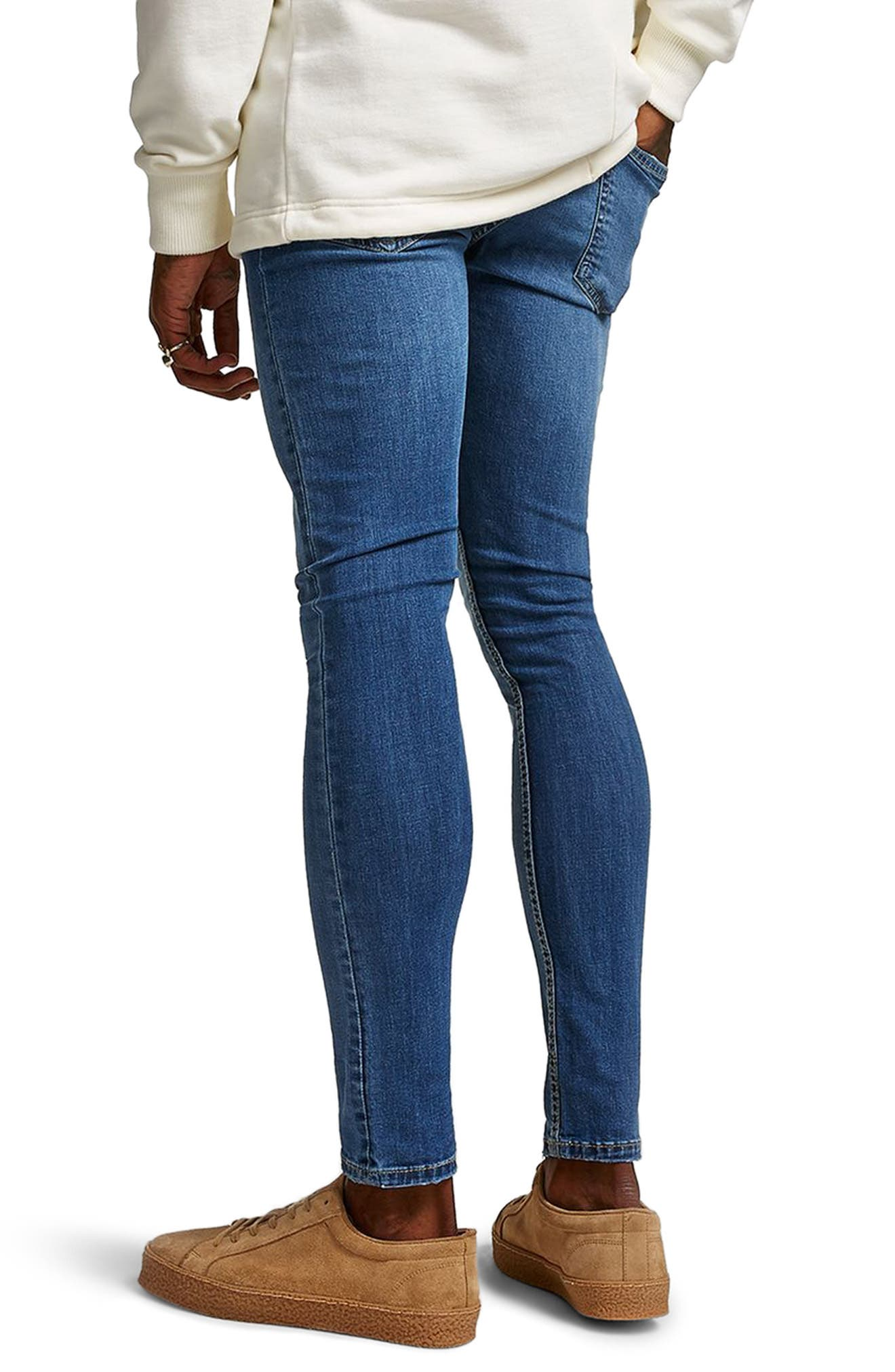 Skinny Fit Spray-On Jeans,                             Alternate thumbnail 2, color,                             Blue