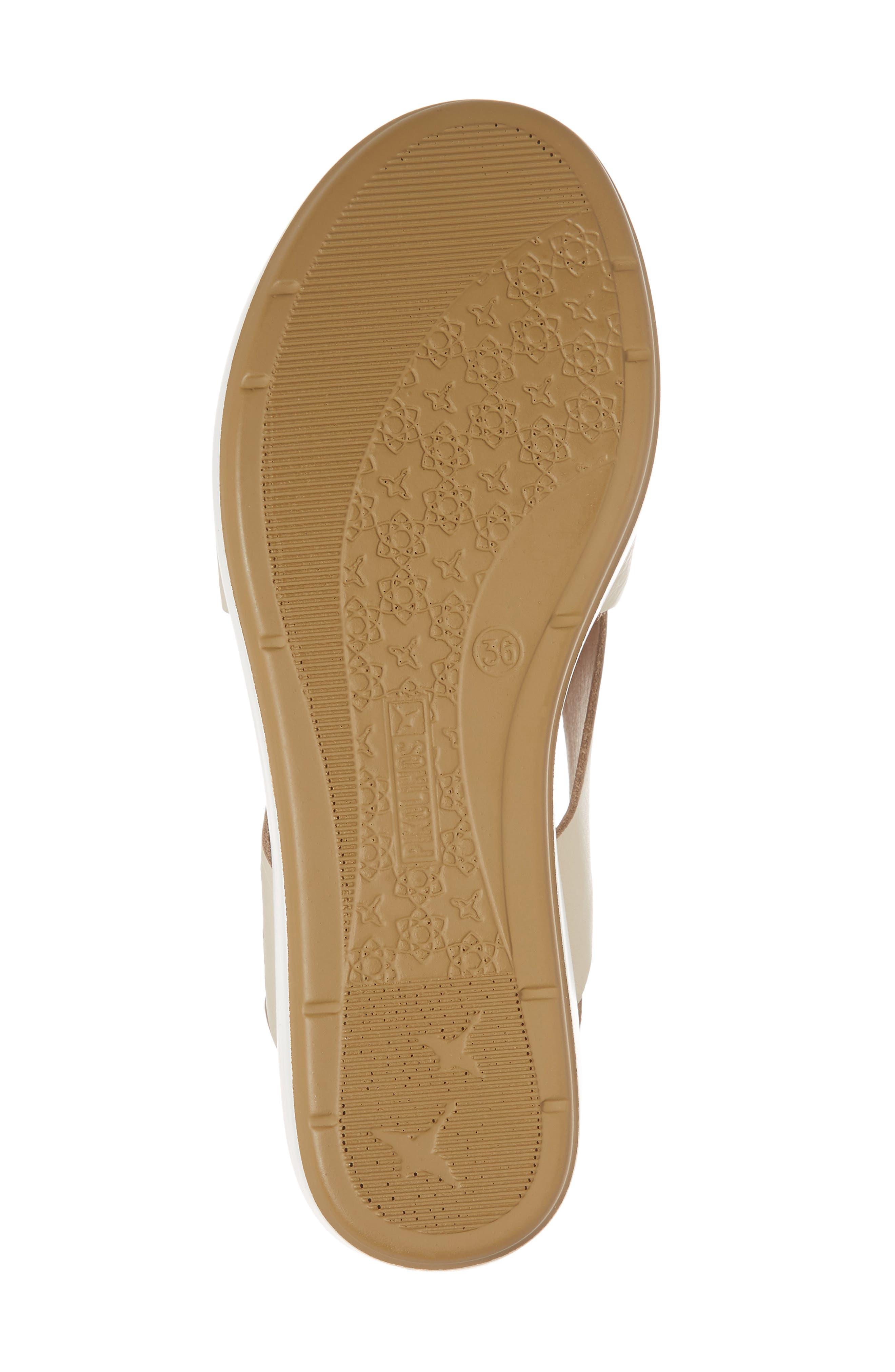 Mykonos Sandal,                             Alternate thumbnail 6, color,                             Marfil Leather