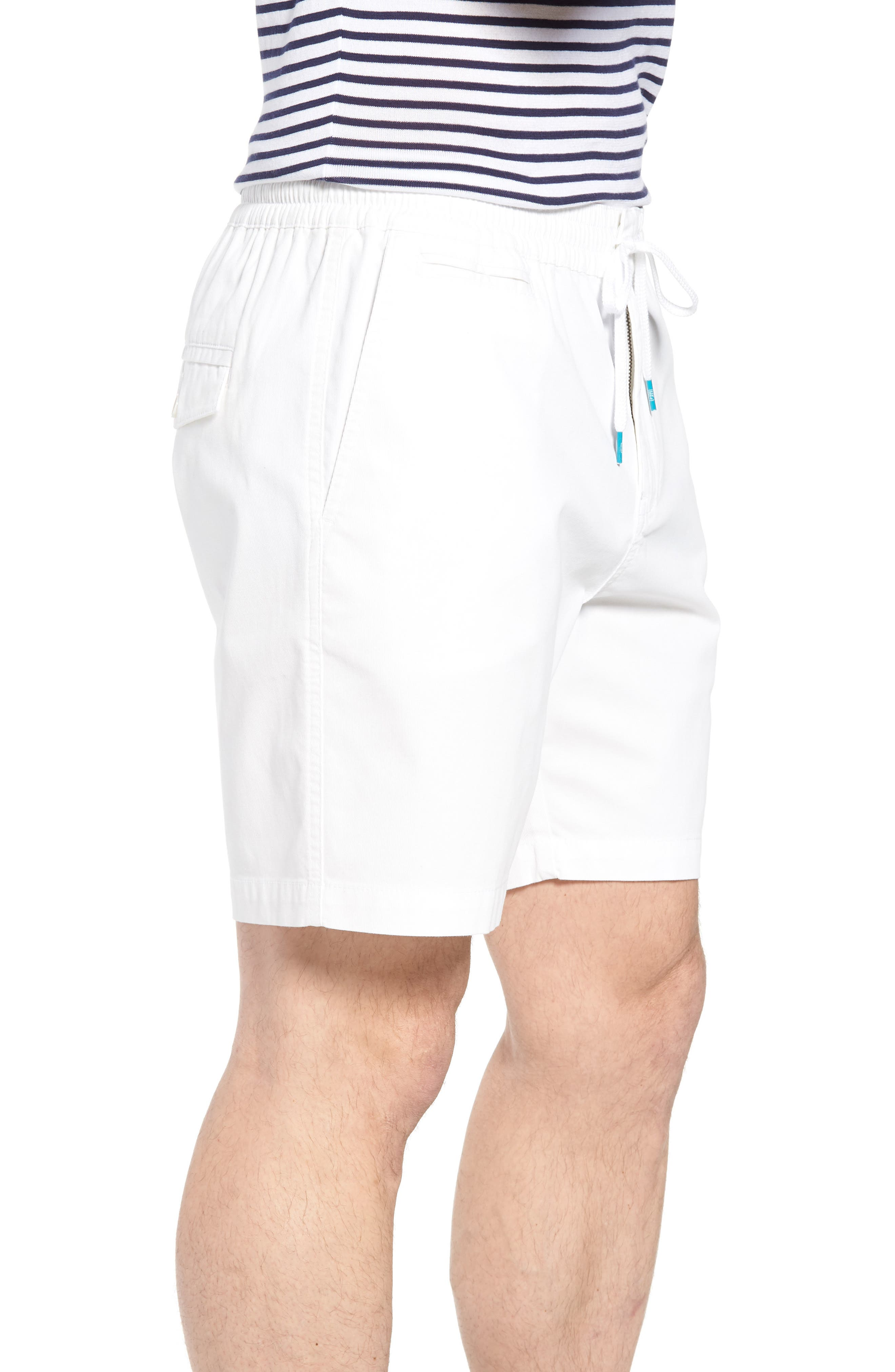 Drawstring Bedford Corduroy Shorts,                             Alternate thumbnail 3, color,                             White