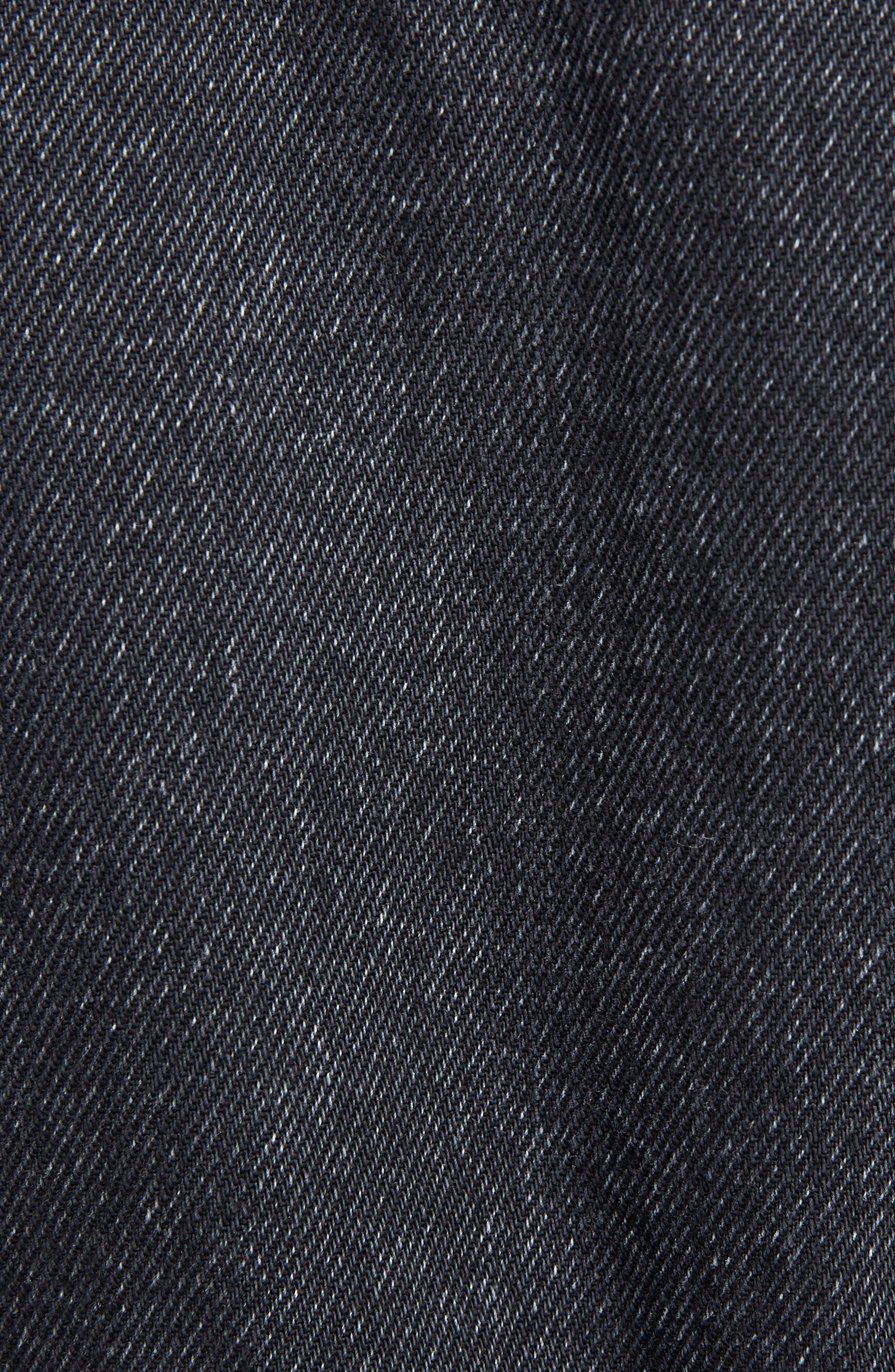 Spencer Denim Officer Jacket,                             Alternate thumbnail 6, color,                             Black Stonewash