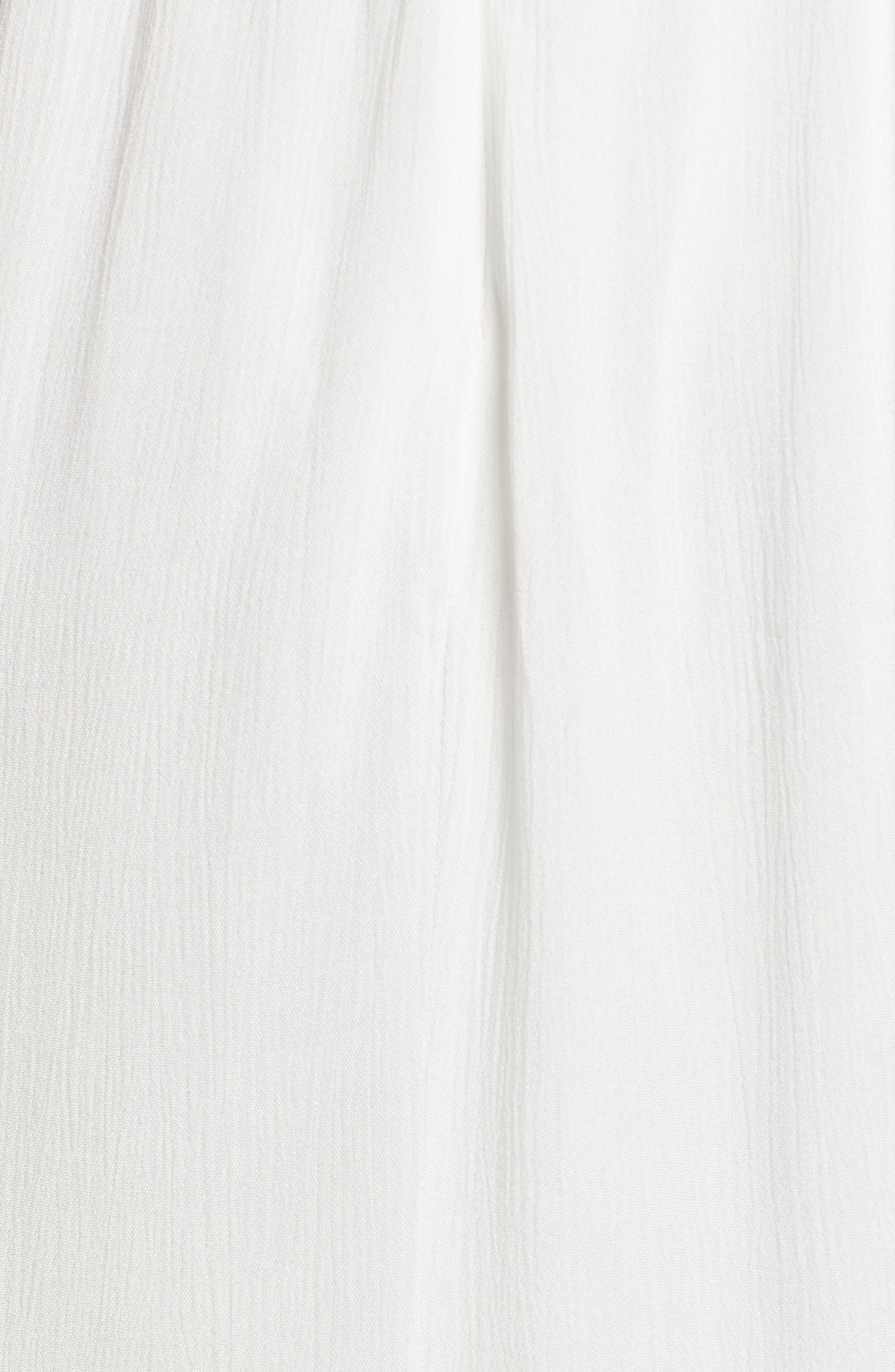 Tie Front Maxi Dress,                             Alternate thumbnail 5, color,                             Ivory