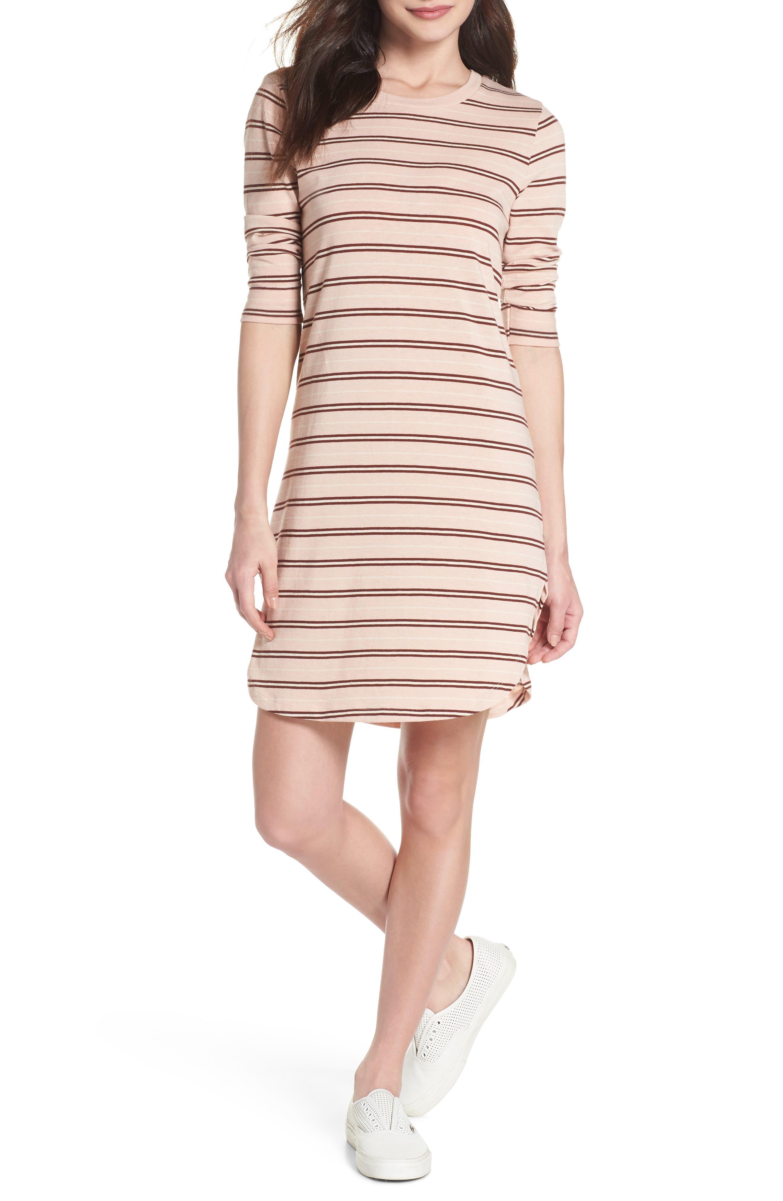 Saul Tunic Dress,                         Main,                         color, Blush 90S Stripe