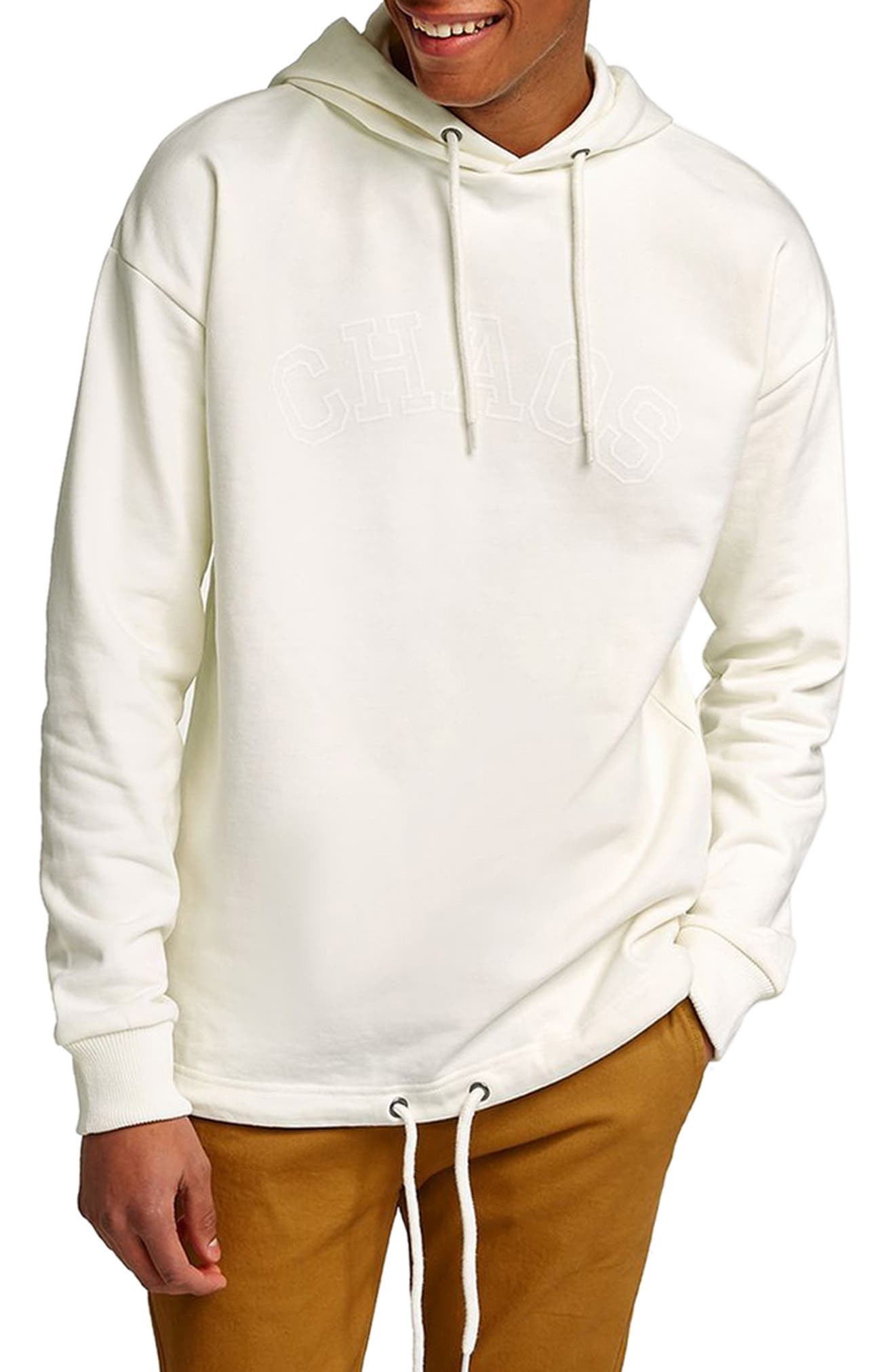 Oversize Hoodie,                         Main,                         color, Ivory