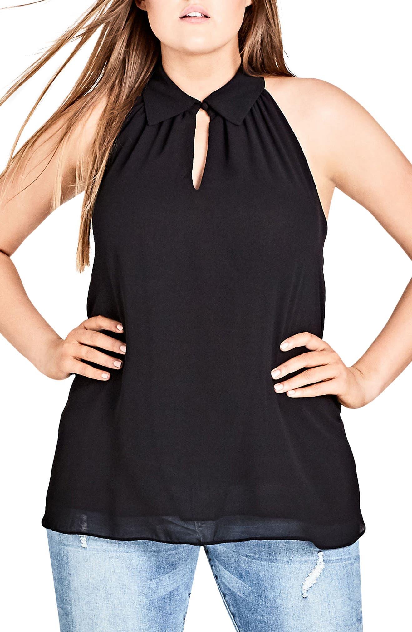 Tuxedo Top,                         Main,                         color, Black