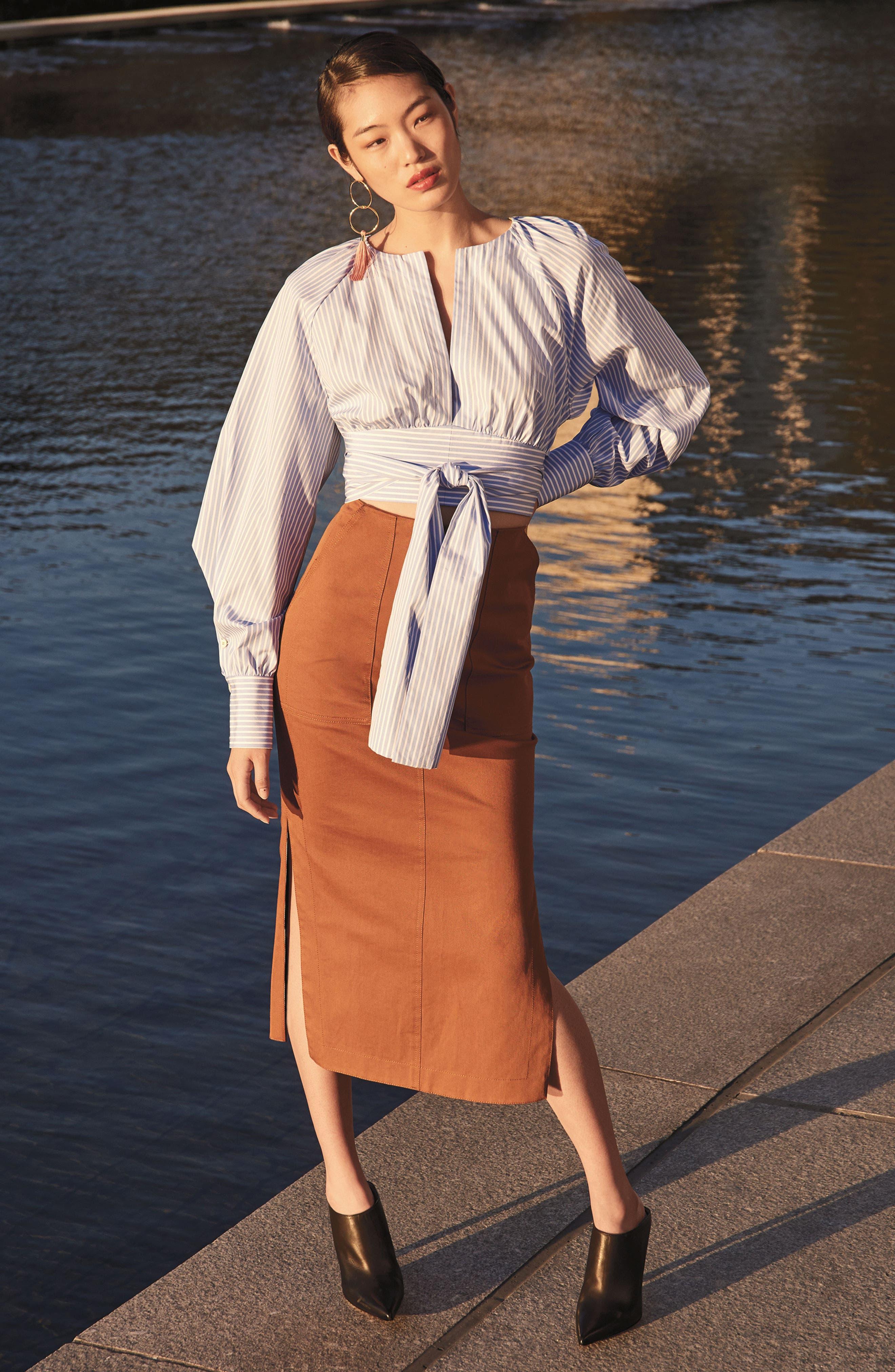 Alternate Image 2  - Diane von Furstenberg Midi Twill Pencil Skirt