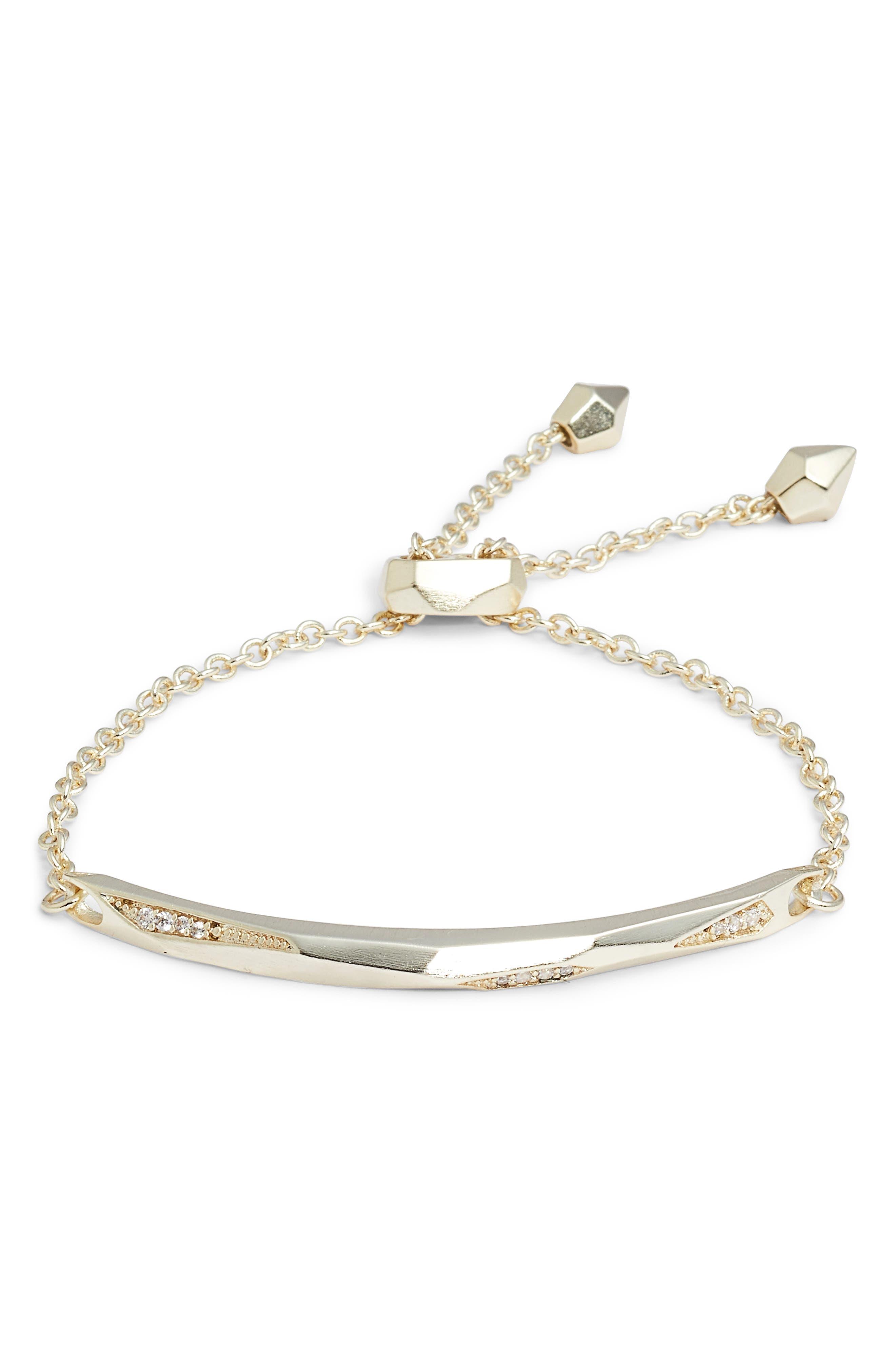 Angela Bracelet,                         Main,                         color, White Cz/ Gold