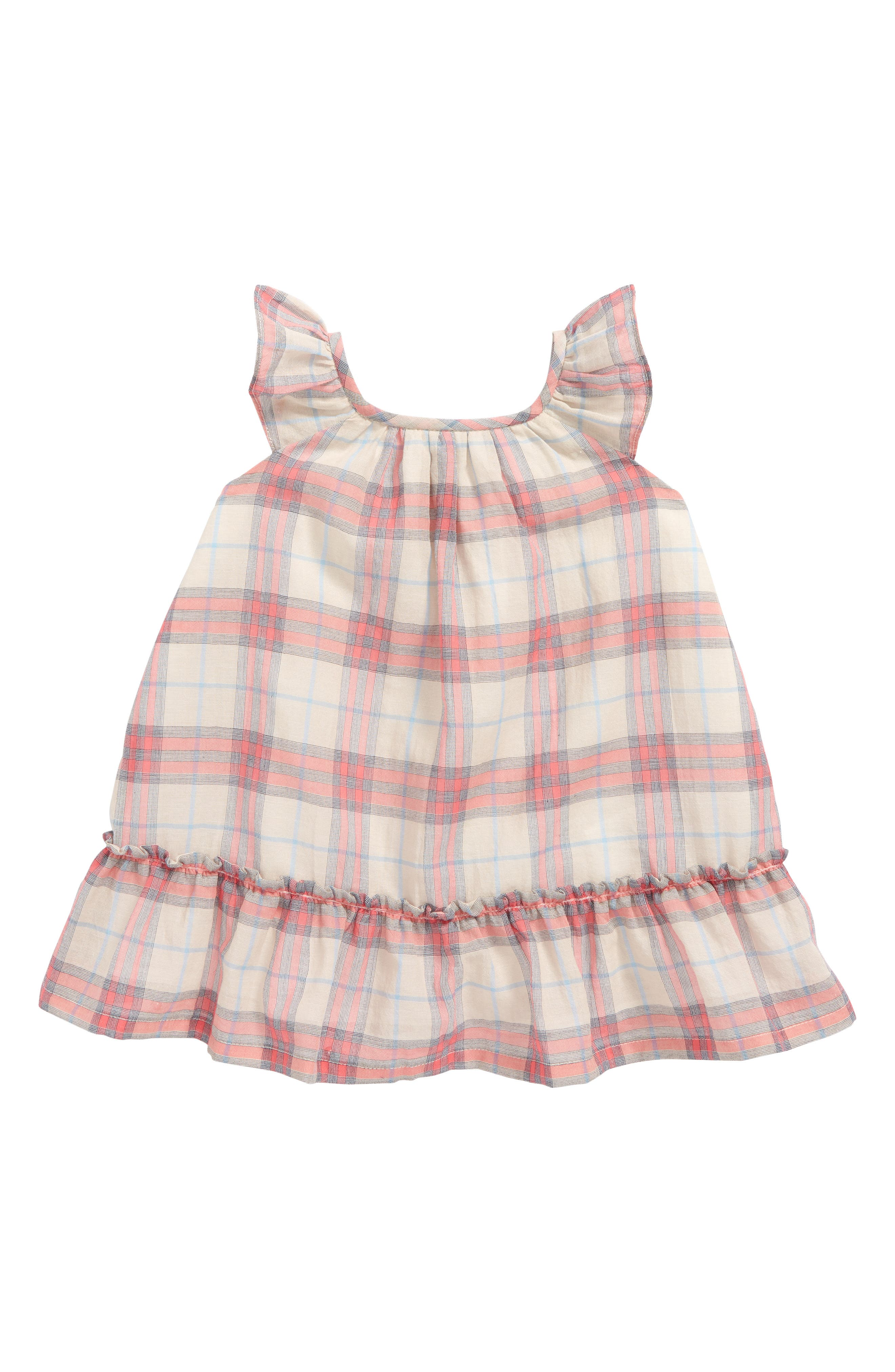 Baby Girl Burberry Dresses Ruffle Silk & Velour