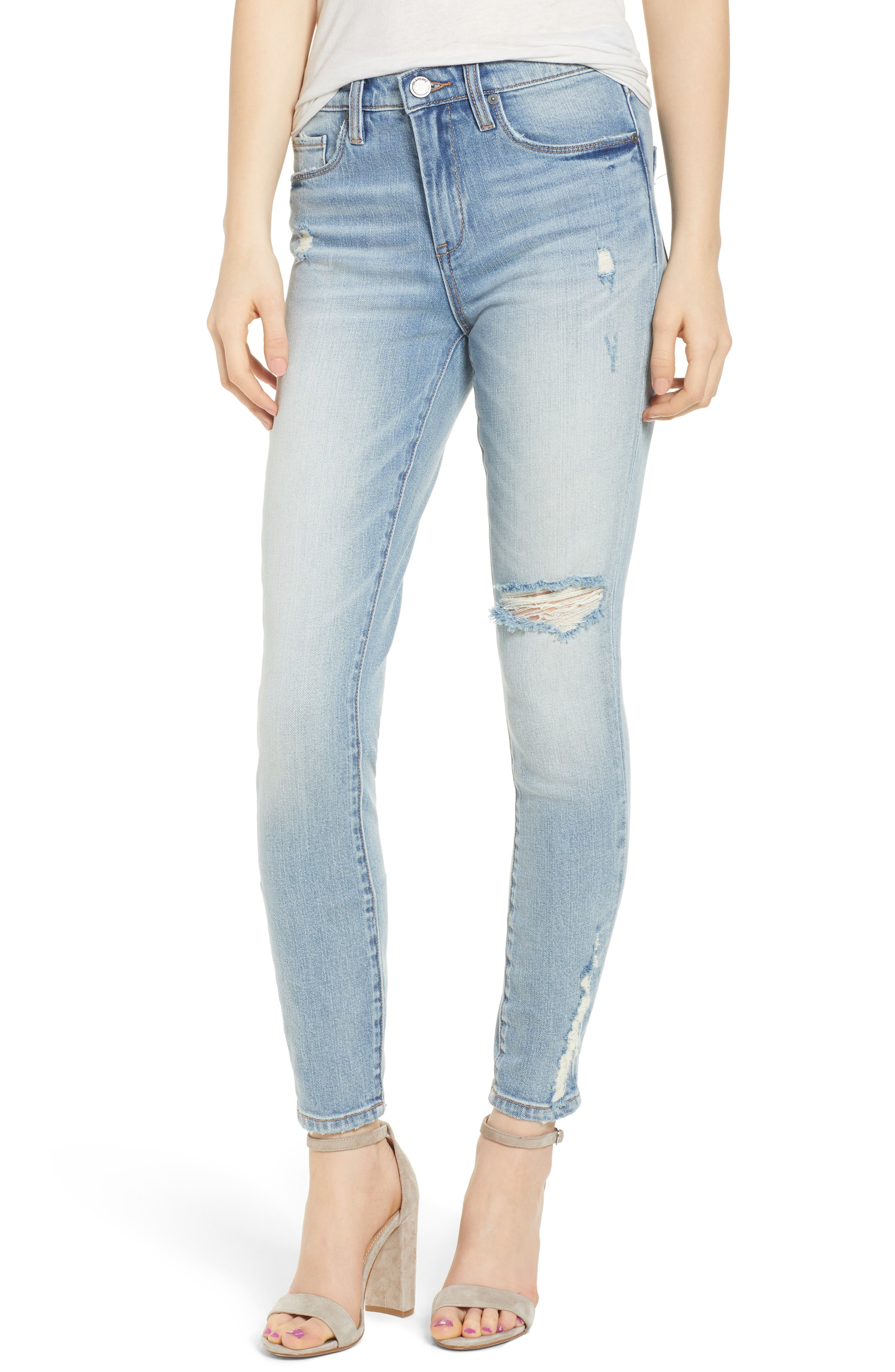 BLANKNYC The Bond Distressed Skinny Jeans (Constant Convo)