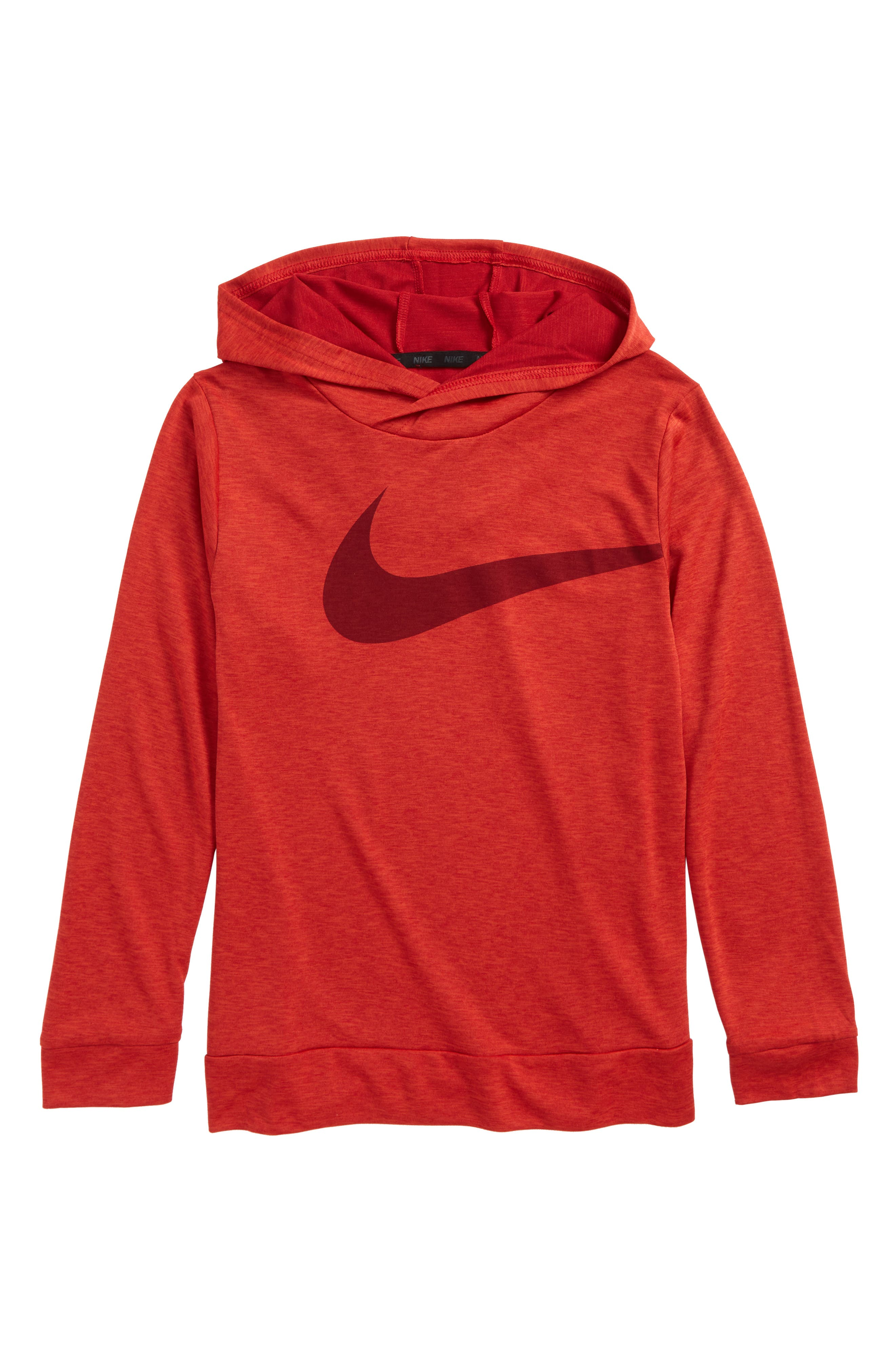 Breathe Training Hoodie,                         Main,                         color, Gym Red/ Habanero Red