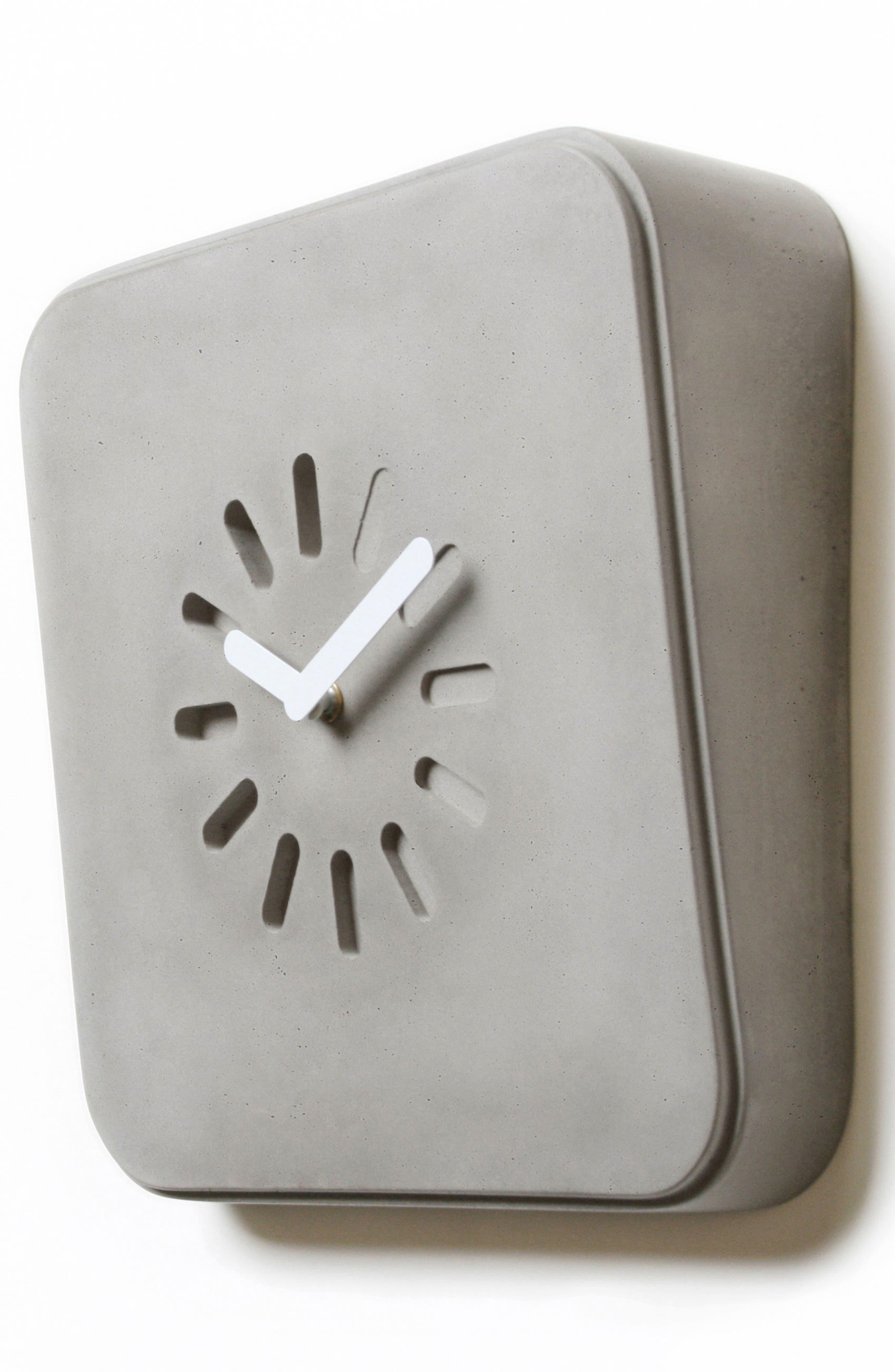 Lyon Béton Life in Progress Clock,                             Alternate thumbnail 5, color,                             Cement