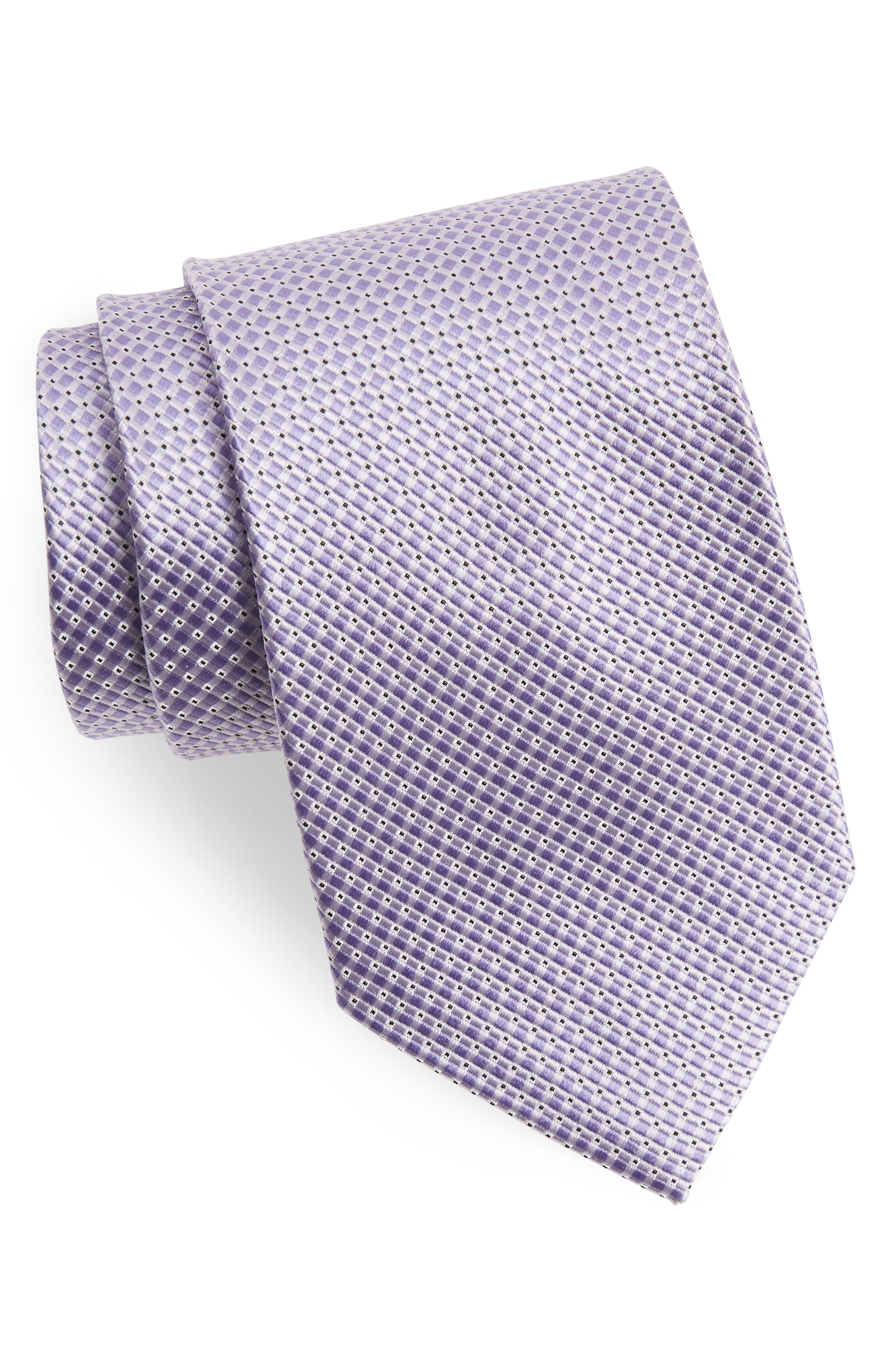 Nordstrom Men's Shop Check Silk Tie (X-Long)
