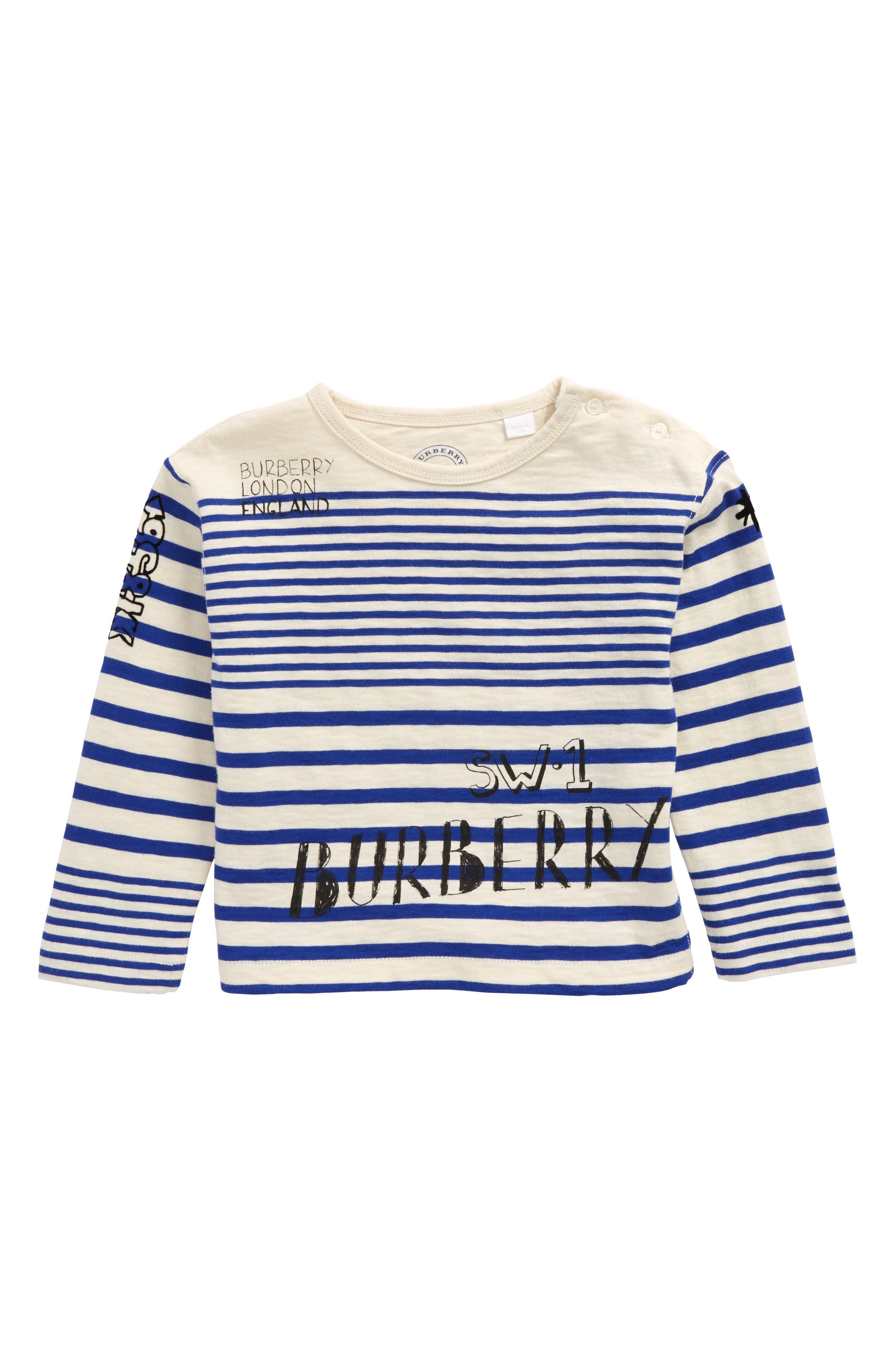 Stripe T-Shirt,                         Main,                         color, Bright Lapis/ White