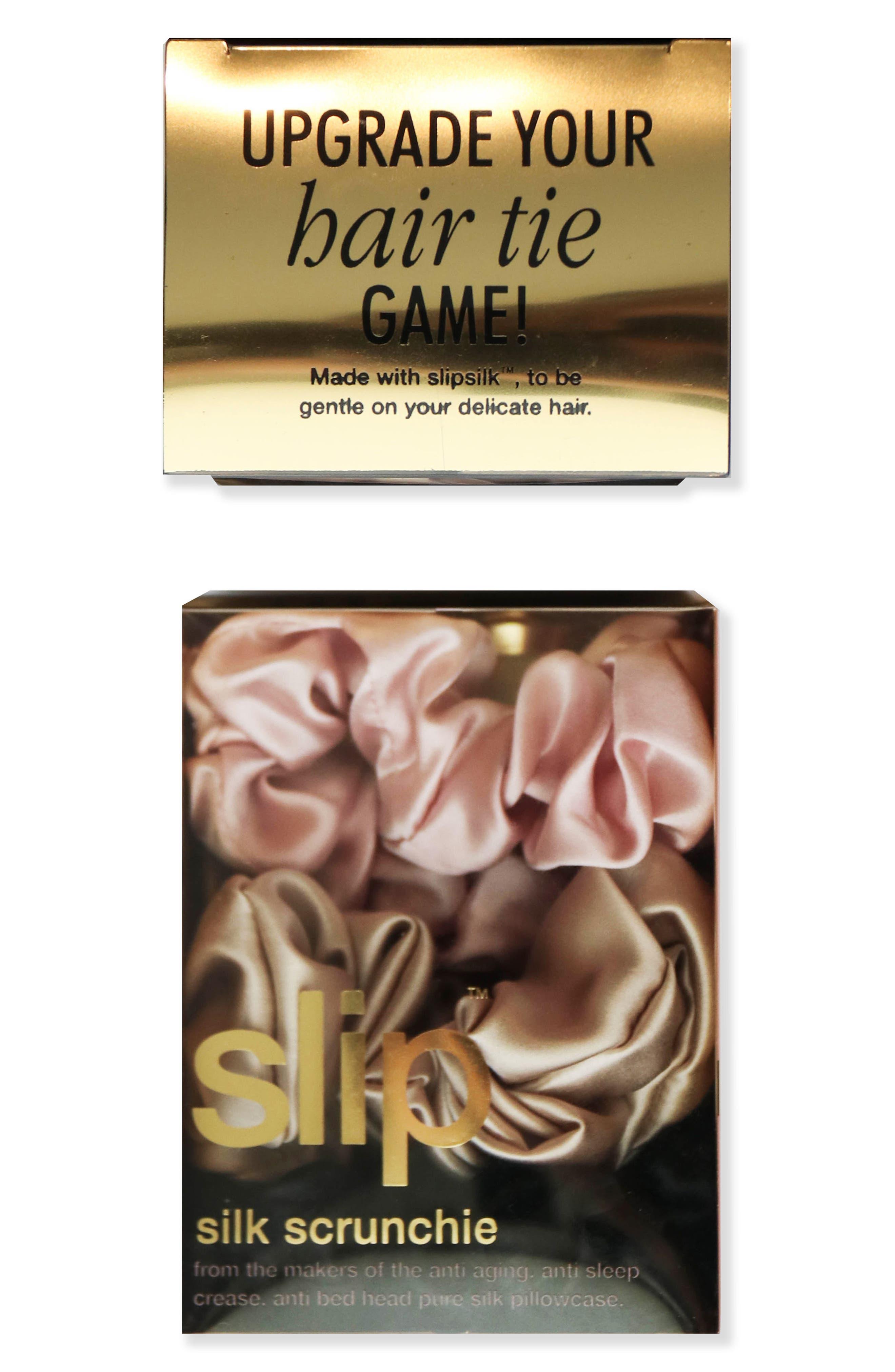 slip<sup>™</sup> for beauty sleep 3-Pack Slipsilk<sup>™</sup> Hair Ties,                             Alternate thumbnail 5, color,