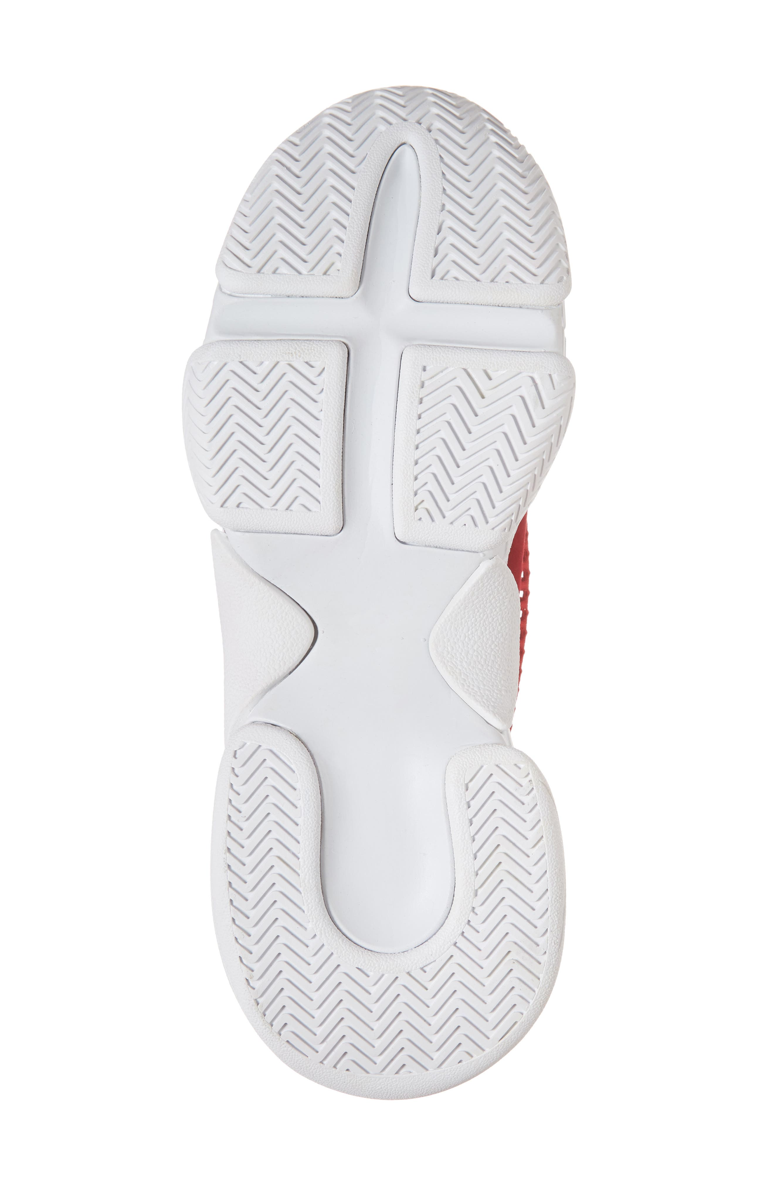 Hotspot Lace-Up Sneaker,                             Alternate thumbnail 6, color,                             Red