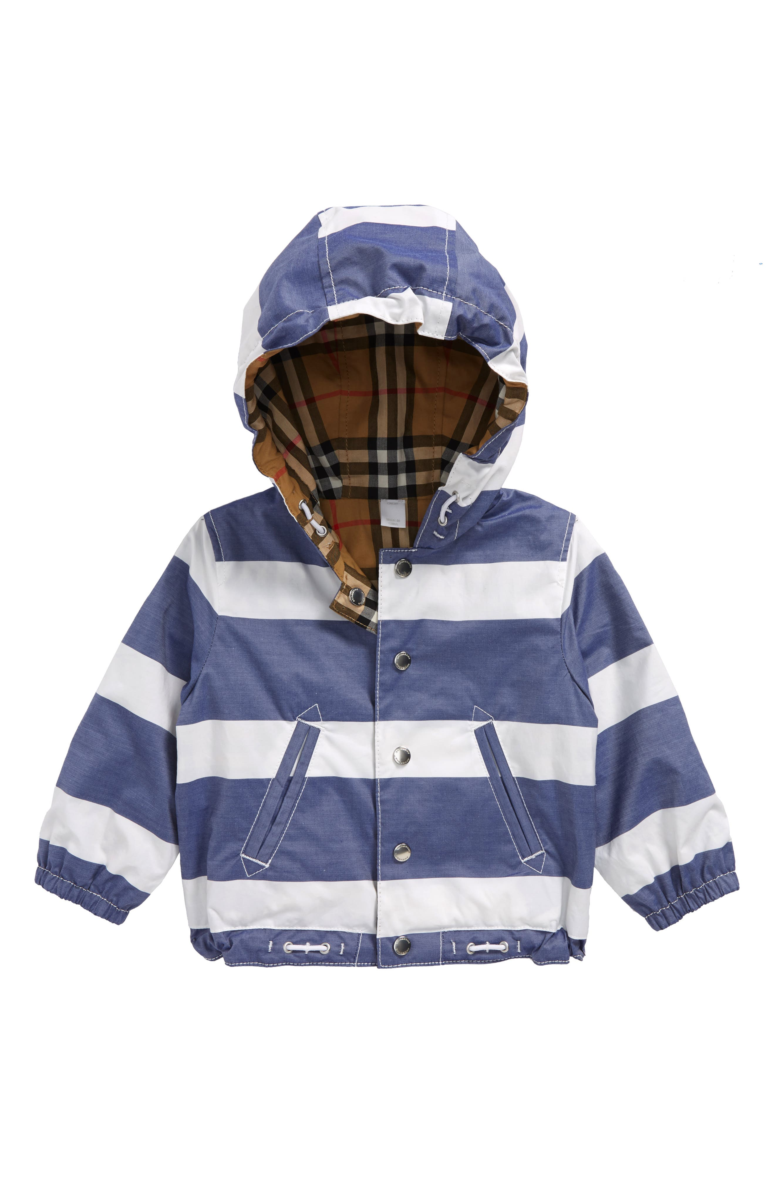 Mayer Reversible Hooded Jacket,                             Main thumbnail 1, color,                             Navy/ White