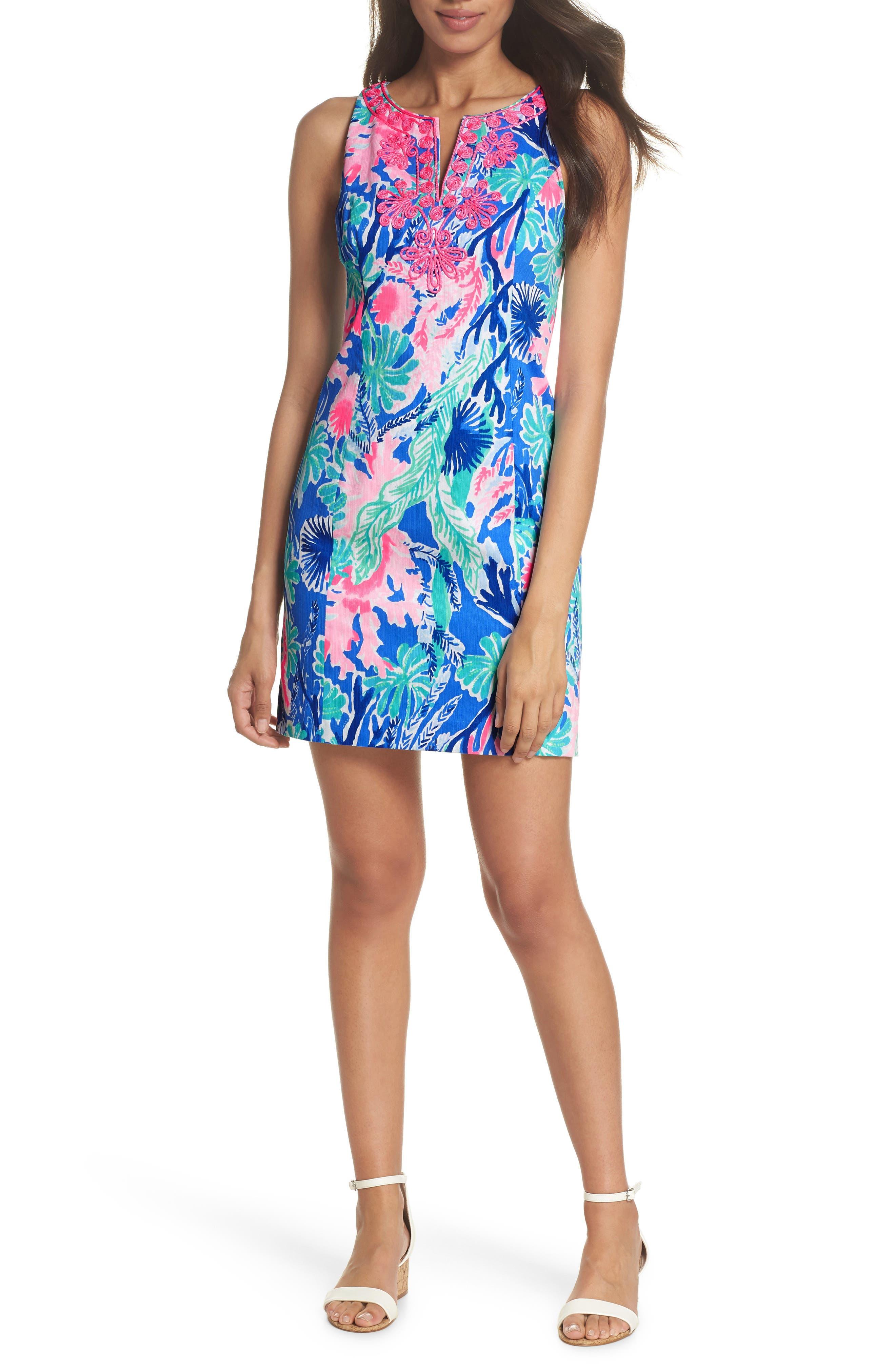 Gabby Sheath Dress,                         Main,                         color, Multi Jet Stream