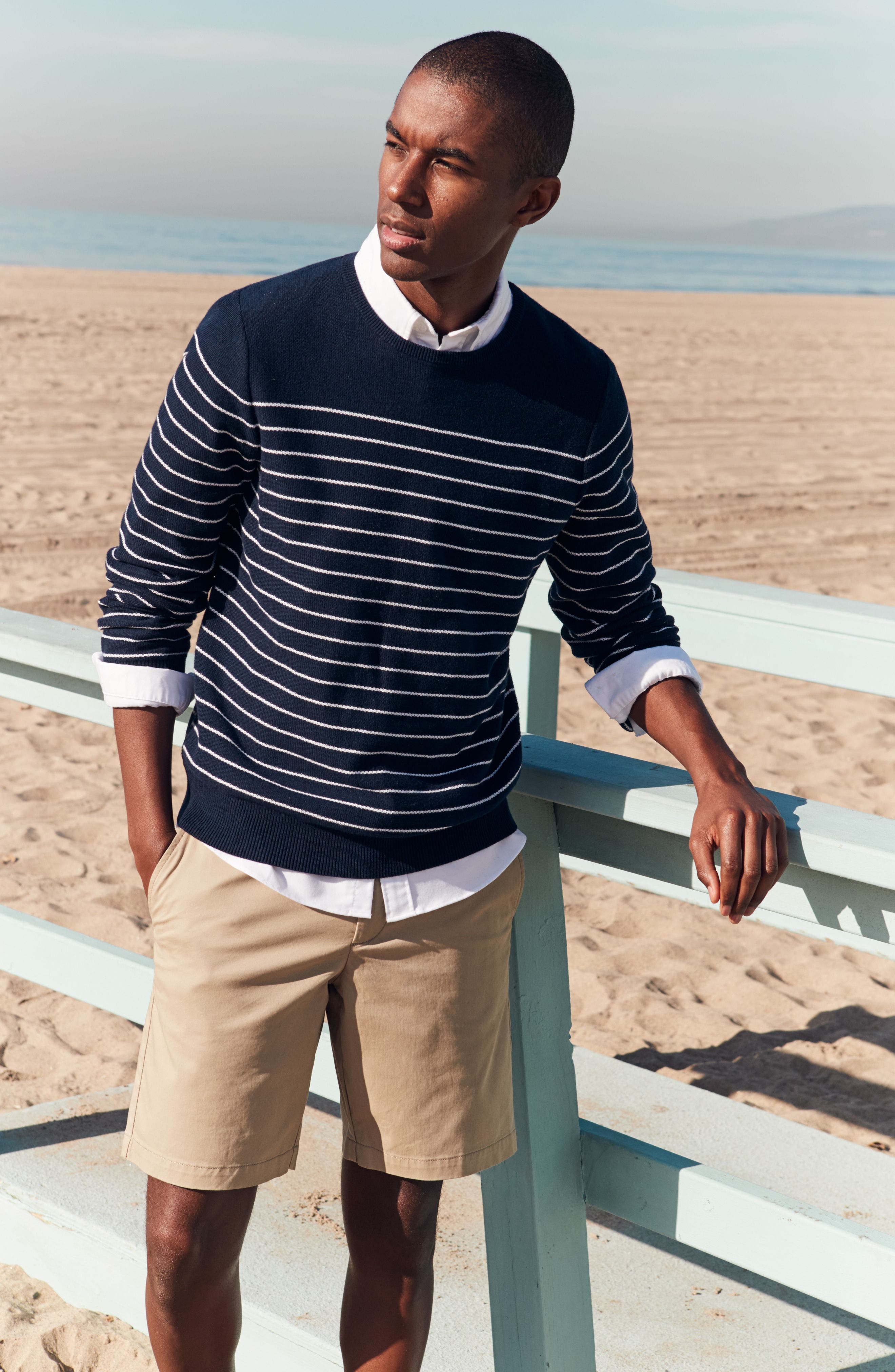 Alternate Image 7  - Nordstrom Men's Shop Stripe Cotton Sweater