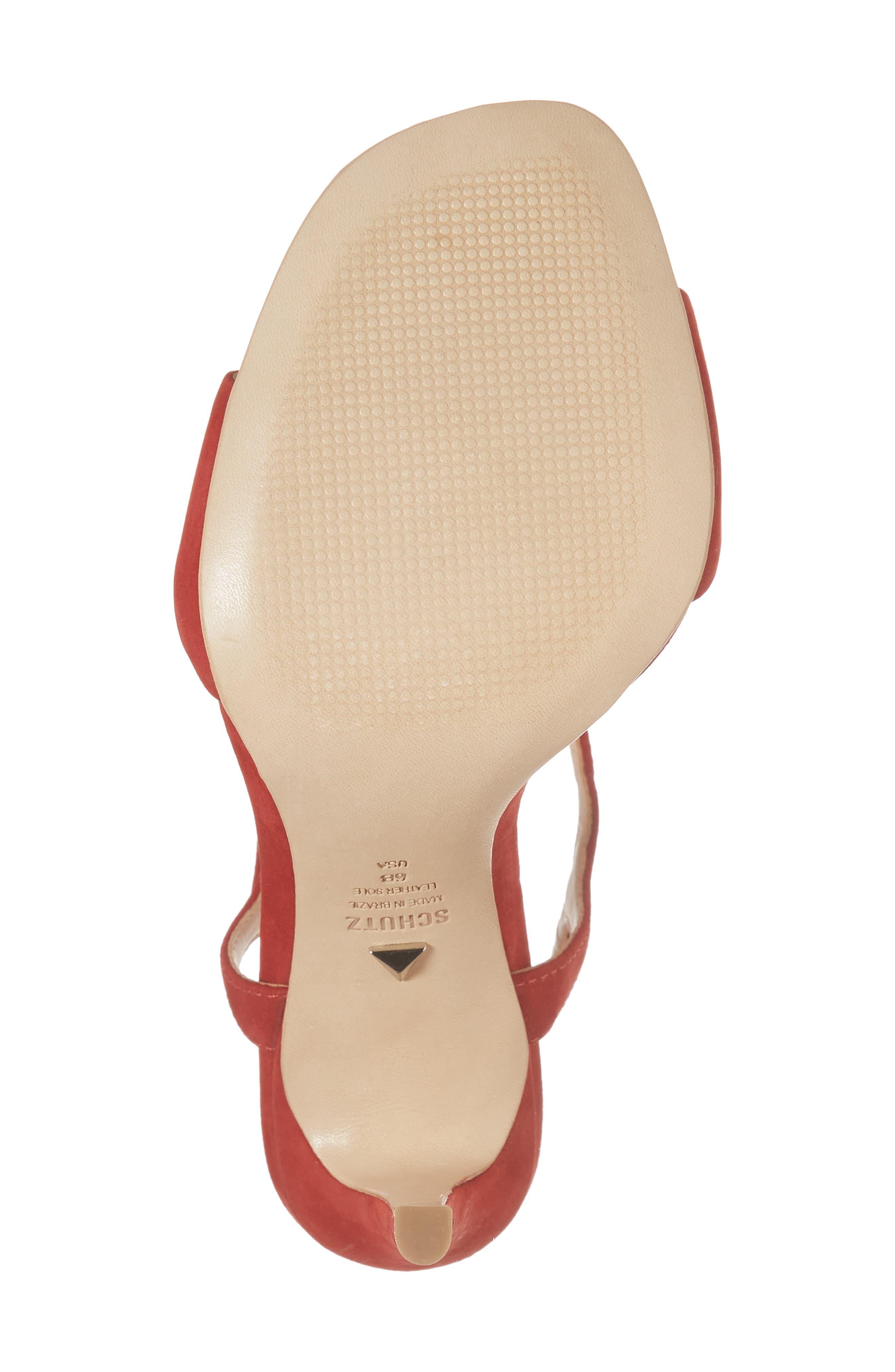 Jade Ankle Strap Sandal,                             Alternate thumbnail 6, color,                             Tango Red