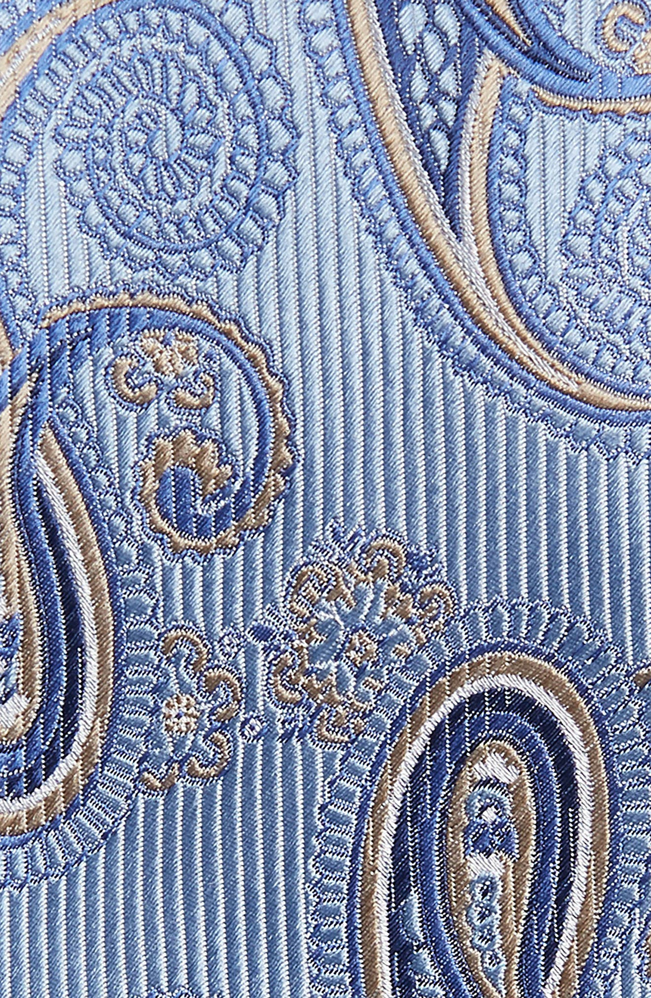 Paisley Silk Tie,                             Alternate thumbnail 2, color,                             Light Blue
